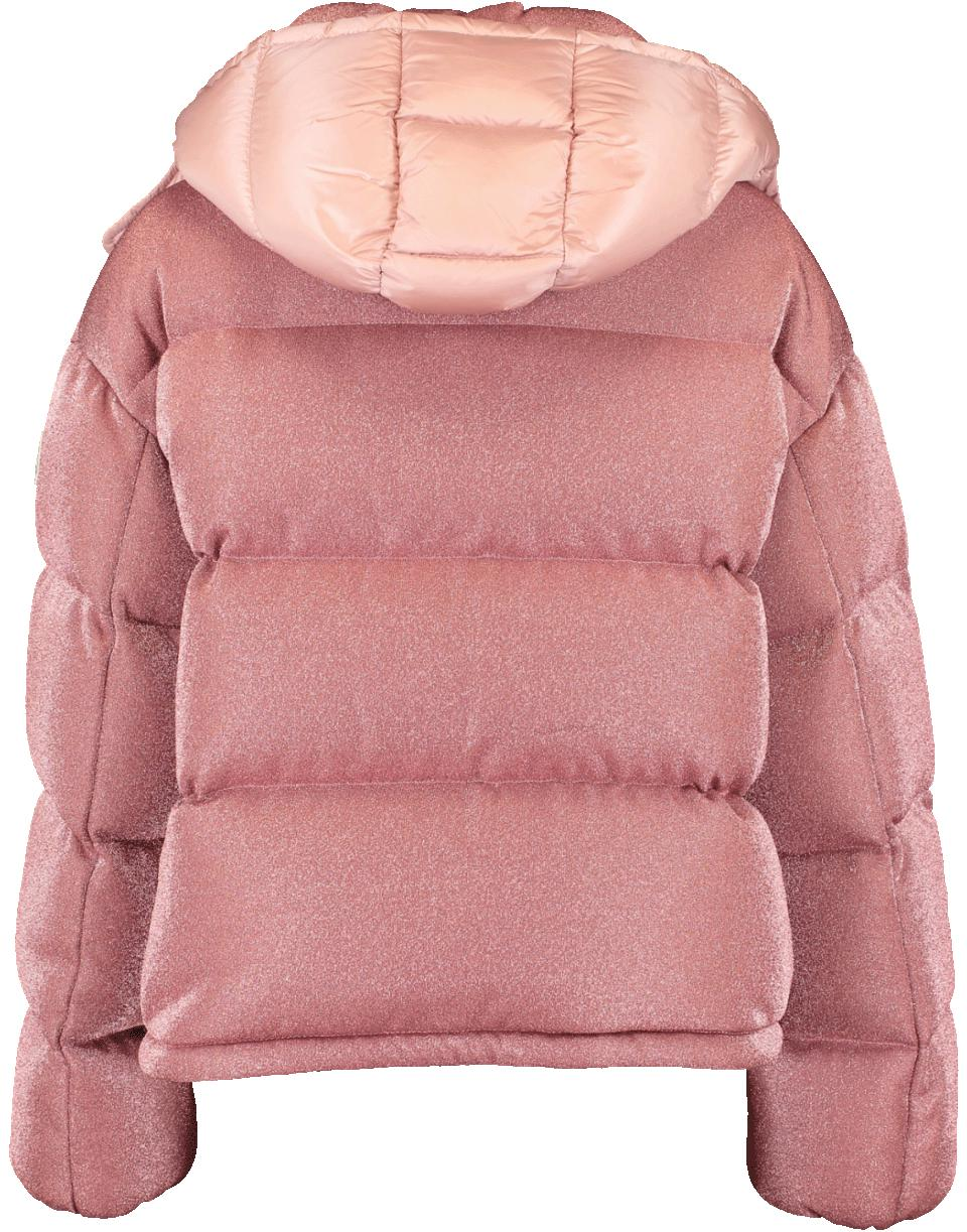 fe9212339 Moncler Pink Caille Sparkle Puffer Jacket