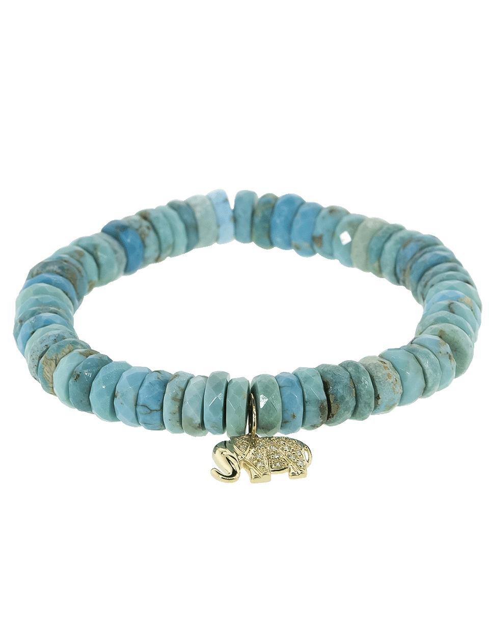 d56226573 Lyst - Sydney Evan Small Pave Elephant Charm Bracelet in Blue
