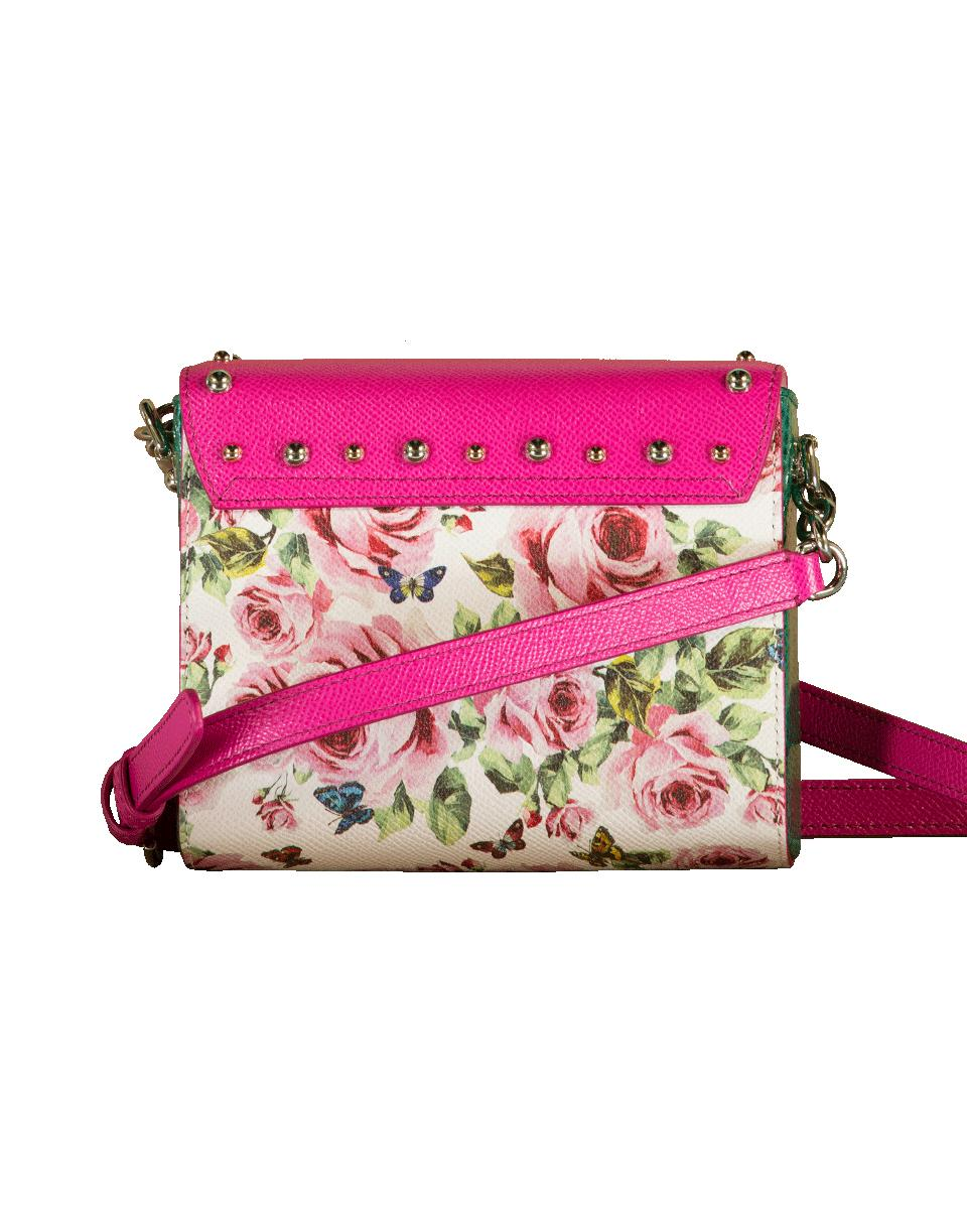 Dolce & Gabbana Rose Print Mini Crossbody Bag in Pink