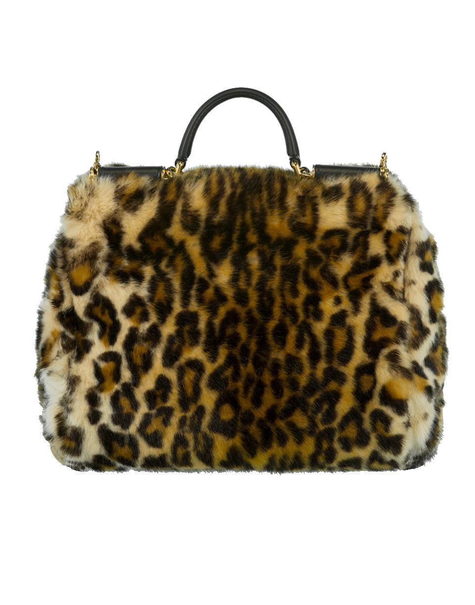 eae2cb2997 Dolce   Gabbana Furry Leopard Print Handbag in Natural - Lyst