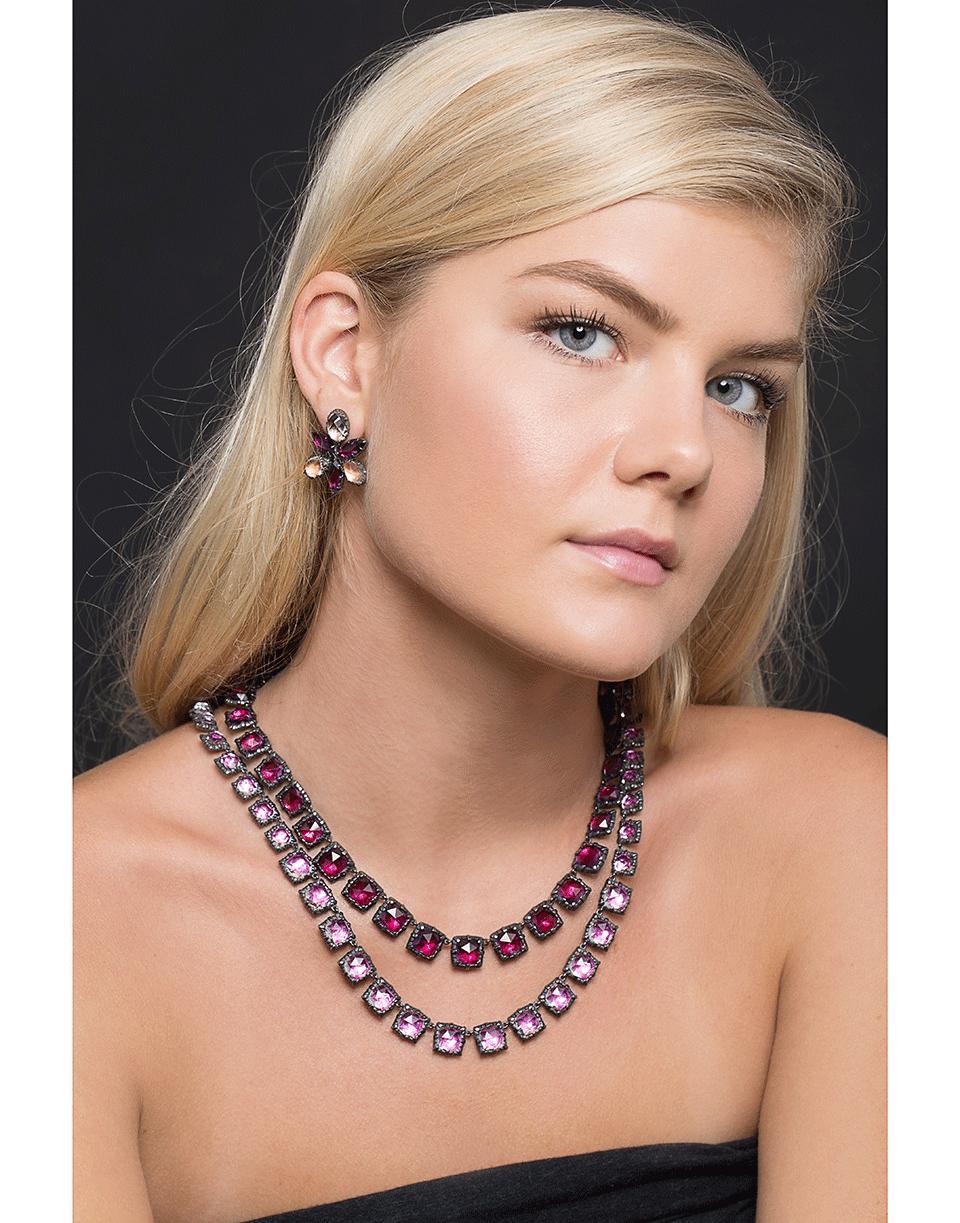 Larkspur & Hawk Bella Graduated Long Riviere Necklace in Silver (Metallic)