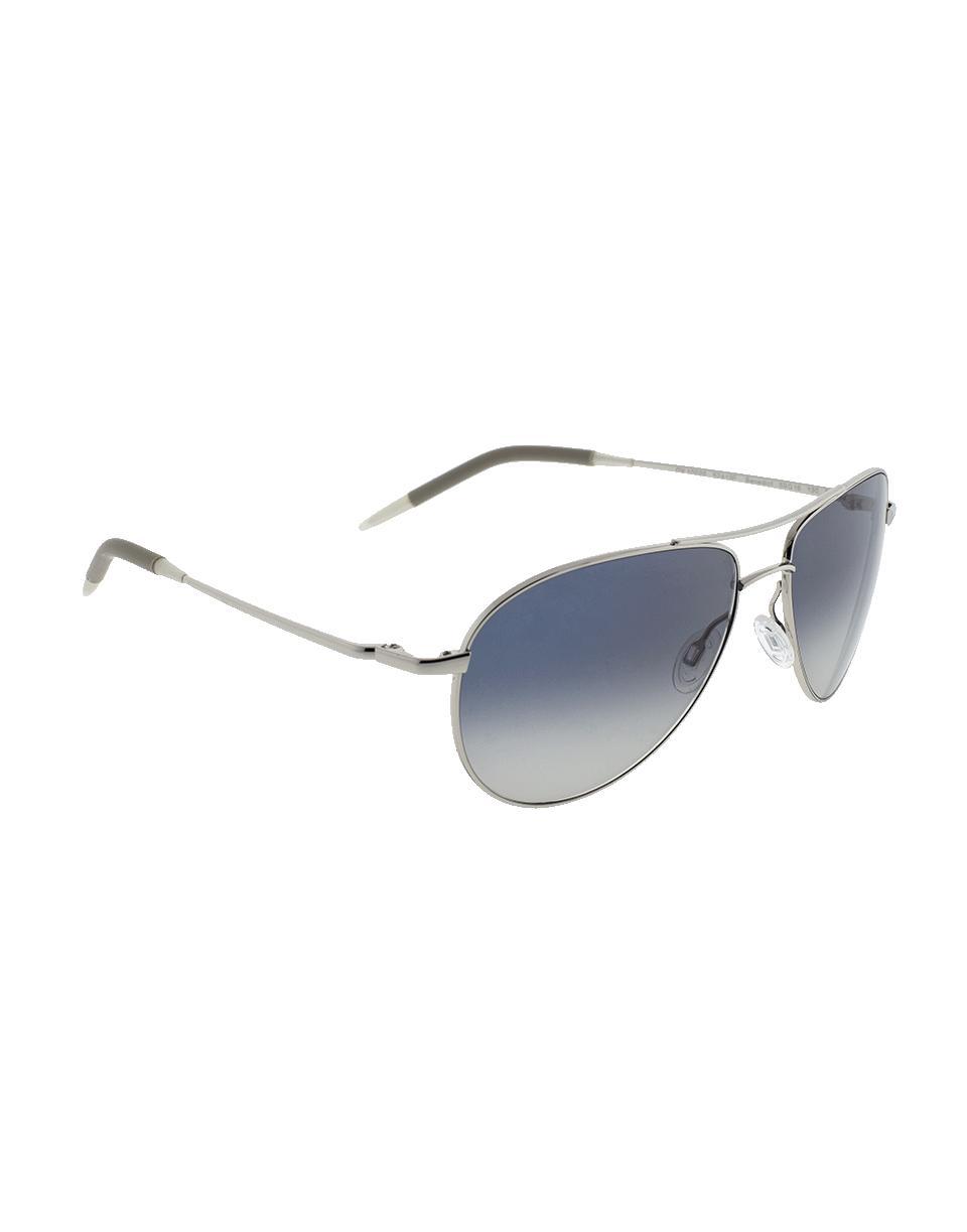Oliver Peoples Benedict 59 Aviator Sunglasses in Silver (Metallic)