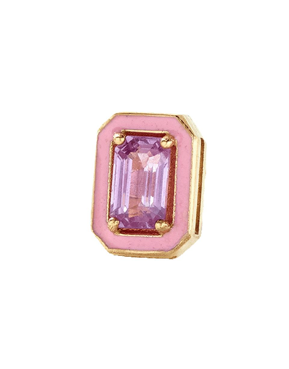 Lyst - Alison Lou Pink Sapphire And Enamel Stud in Pink