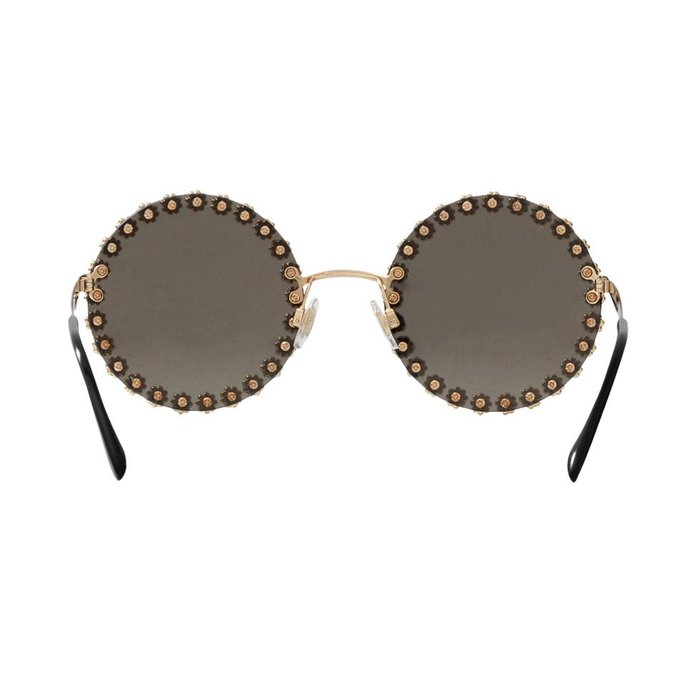 e46d7b07b4644 Dolce Dg2173b Sunglasses Round 56 In amp  Metallic Gabbana 025a Lyst 1wdaq1