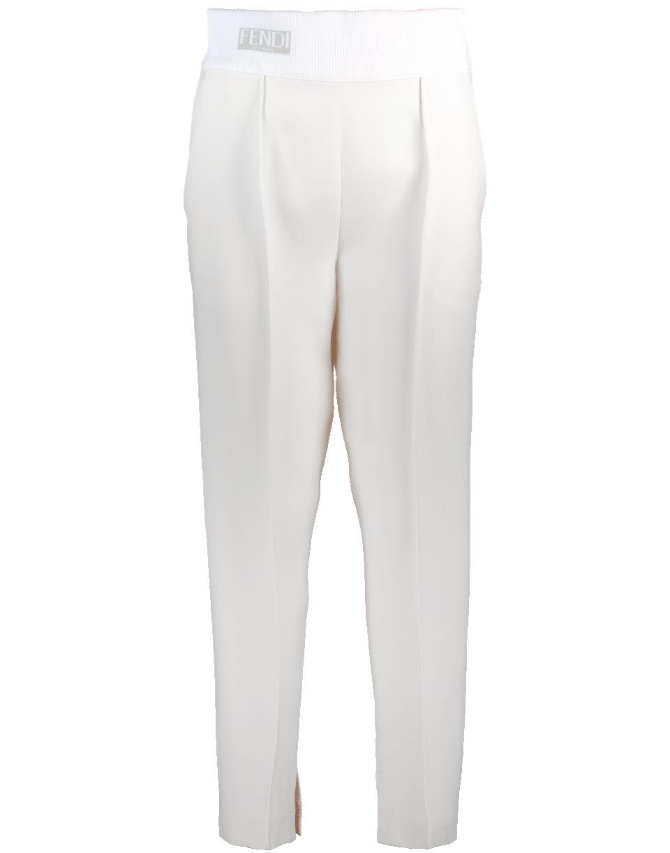 90e252796383d6 Fendi - White Logo Waistband Pant - Lyst. View fullscreen