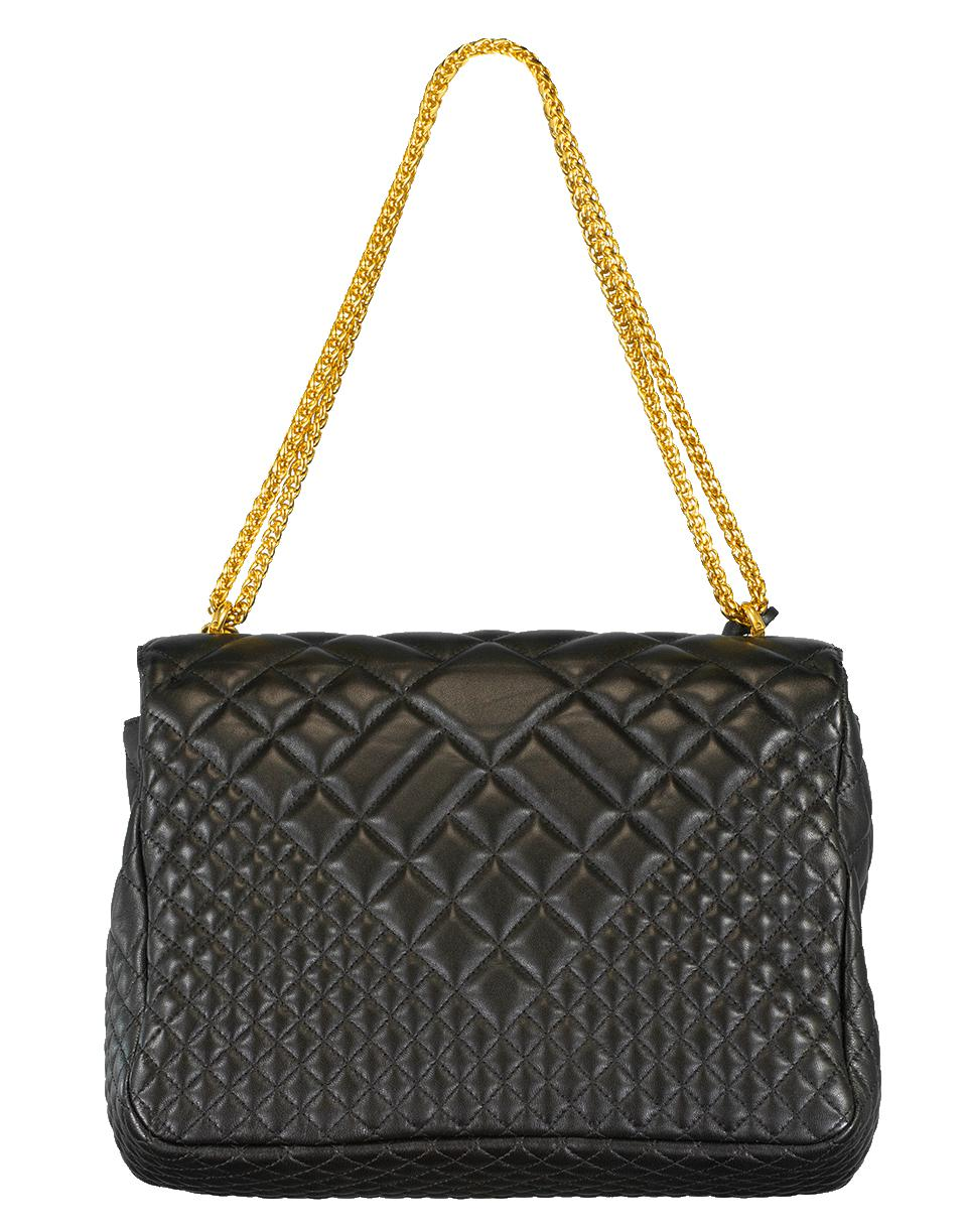 Lyst - Versace Large Quilted Foldover Chain Bag in Black 525d90bdaeb1d