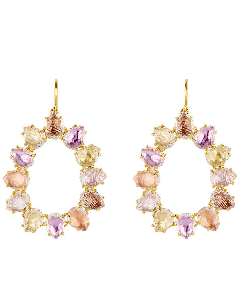 Larkspur & Hawk Caterina Trapezoid Chandelier Earrings, Multi