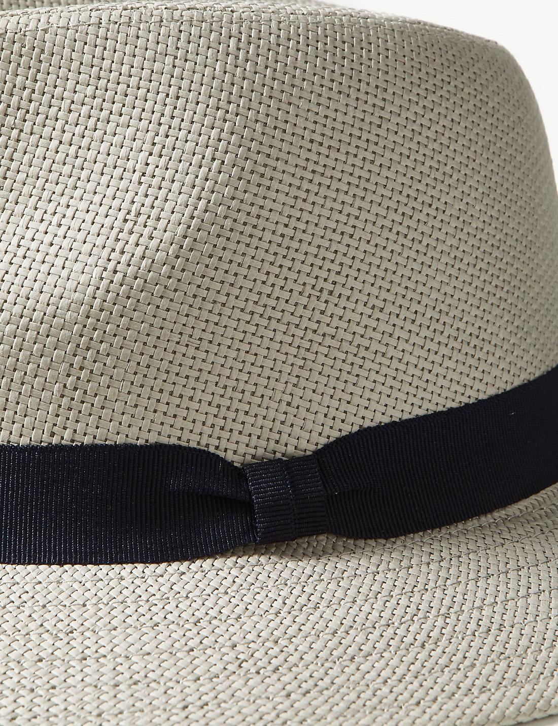 b0ca4cf34 Lyst - Marks & Spencer Fine Weave Ambassador Hat in Gray for Men