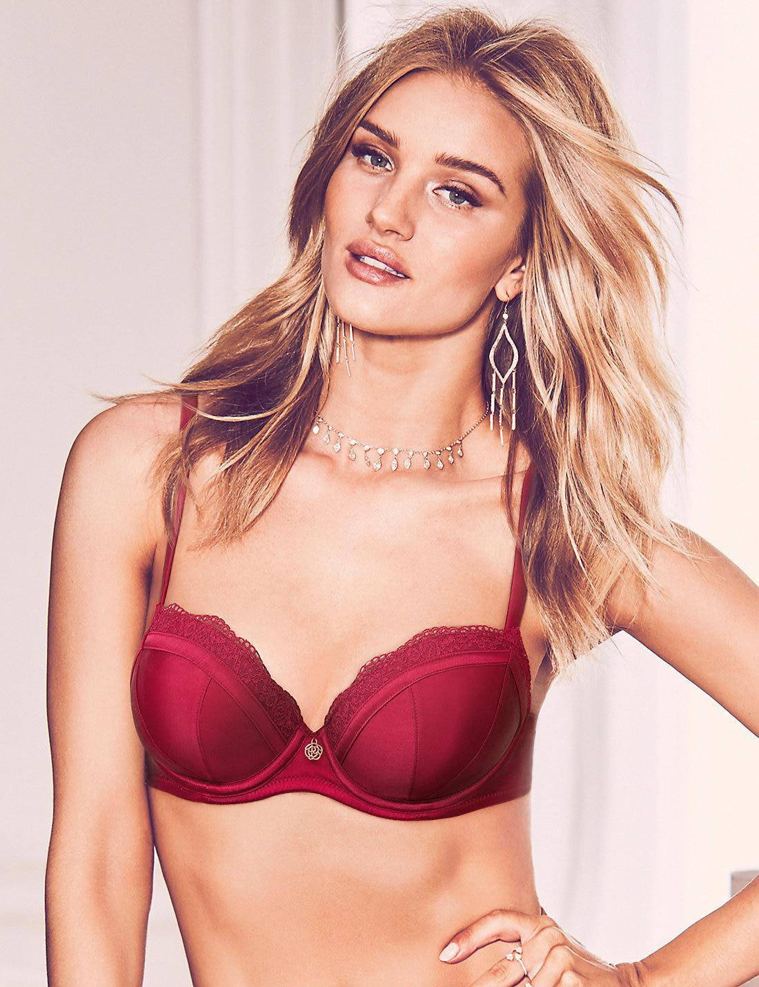4b4d650c7e Lyst - Marks   Spencer Silk   Lace Padded Balcony Bra A-e in Red