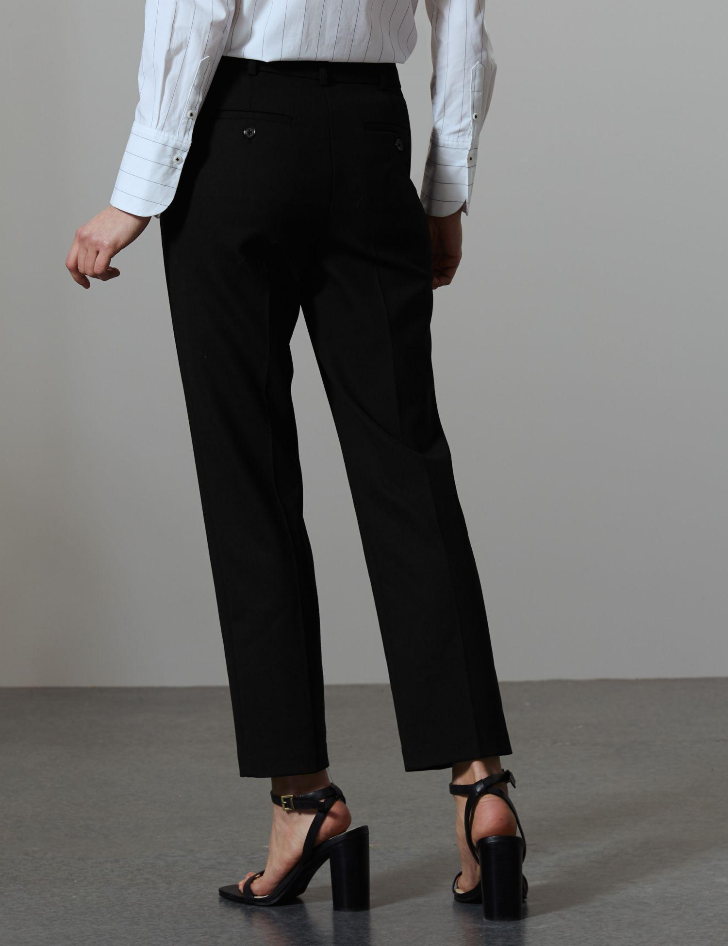 1c68a4cb719d3 Marks   Spencer Slim Leg Ankle Grazer Trousers With Wool in Black - Lyst