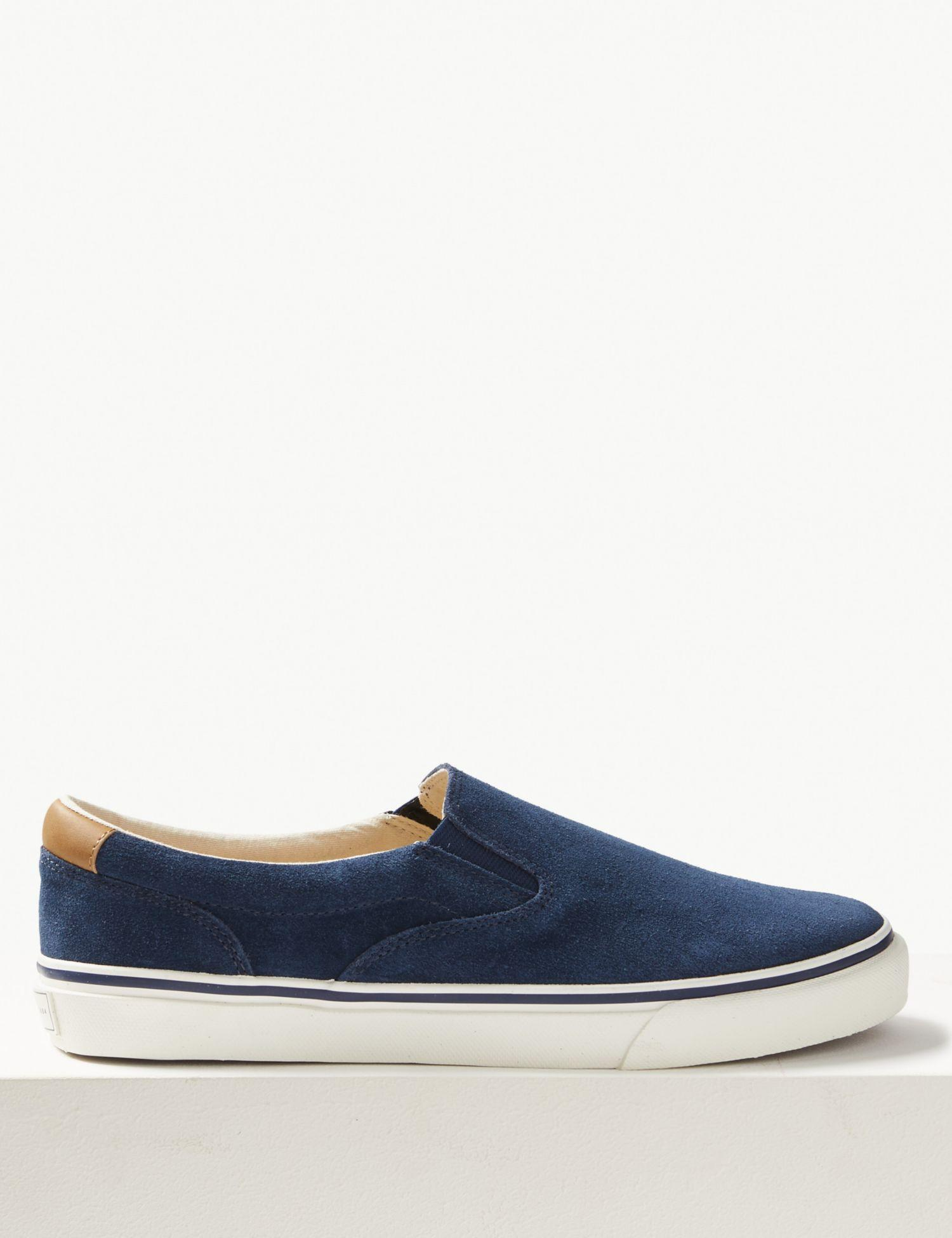 f072ebdd7d0 Marks   Spencer Wide Fit Suede Pump Shoes With Freshfeettm in Blue ...