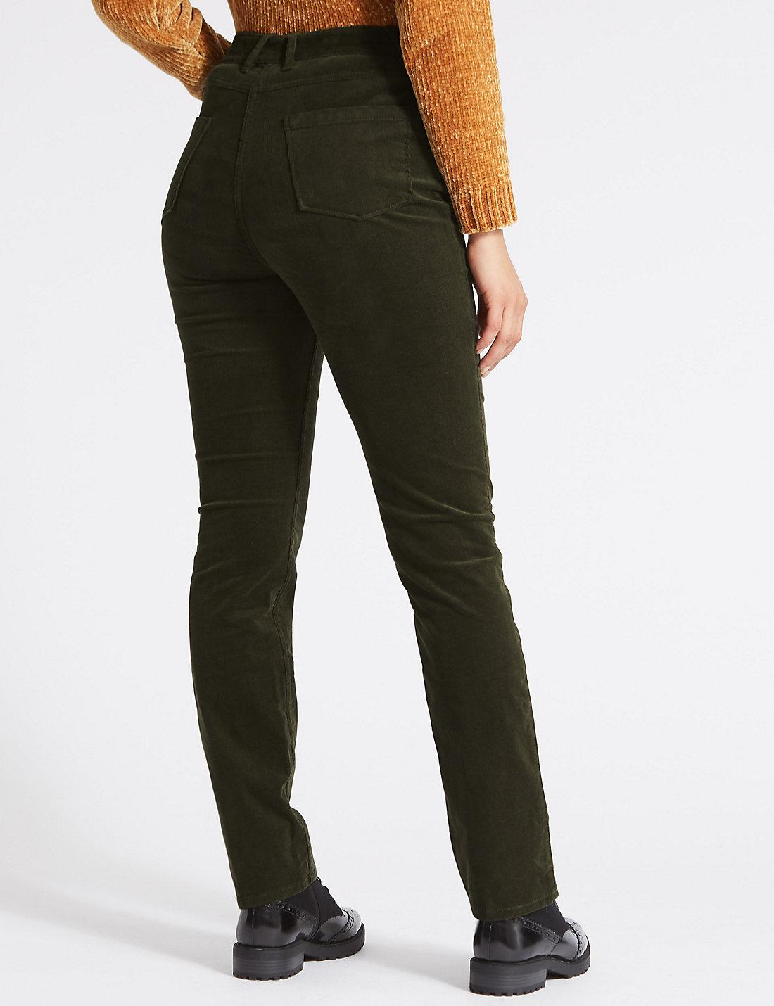 271a6fbaeed Lyst - Marks   Spencer Cotton Rich Straight Leg Corduroy Trousers