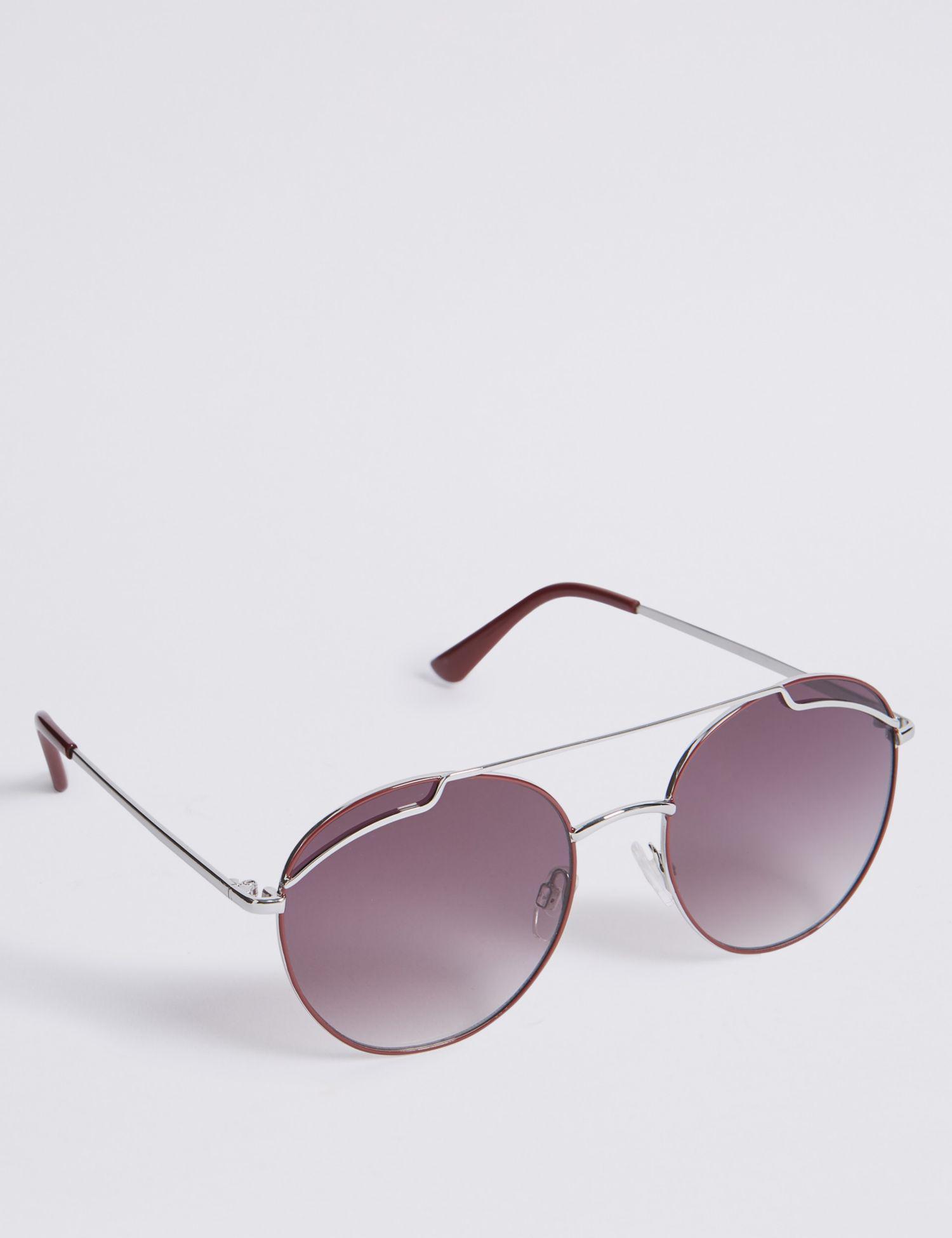 c4536ba79c5 Marks   Spencer Round Aviator Sunglasses - Lyst