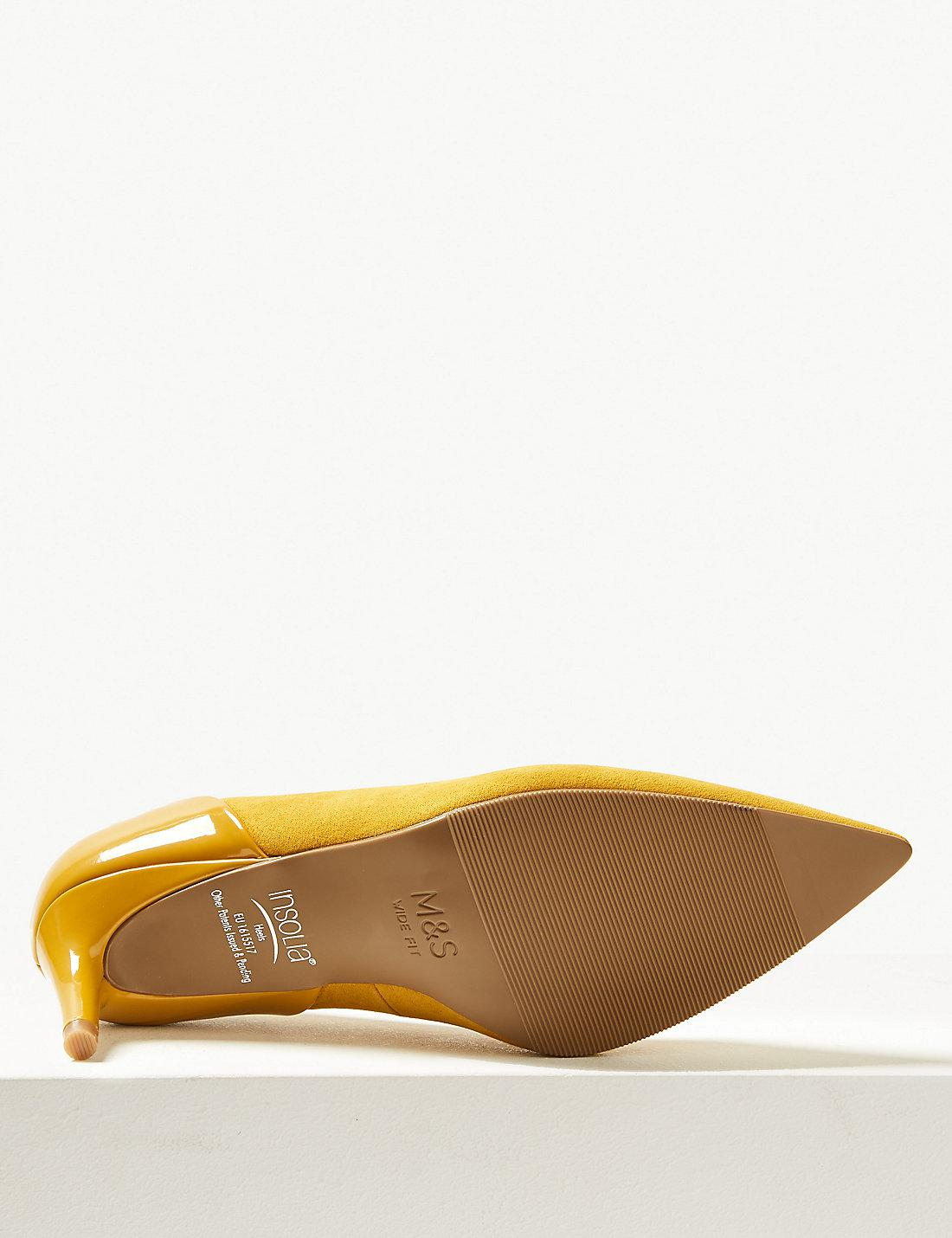 80c8a39f74d Marks & Spencer Multicolor Wide Fit Kitten Heel Court Shoes