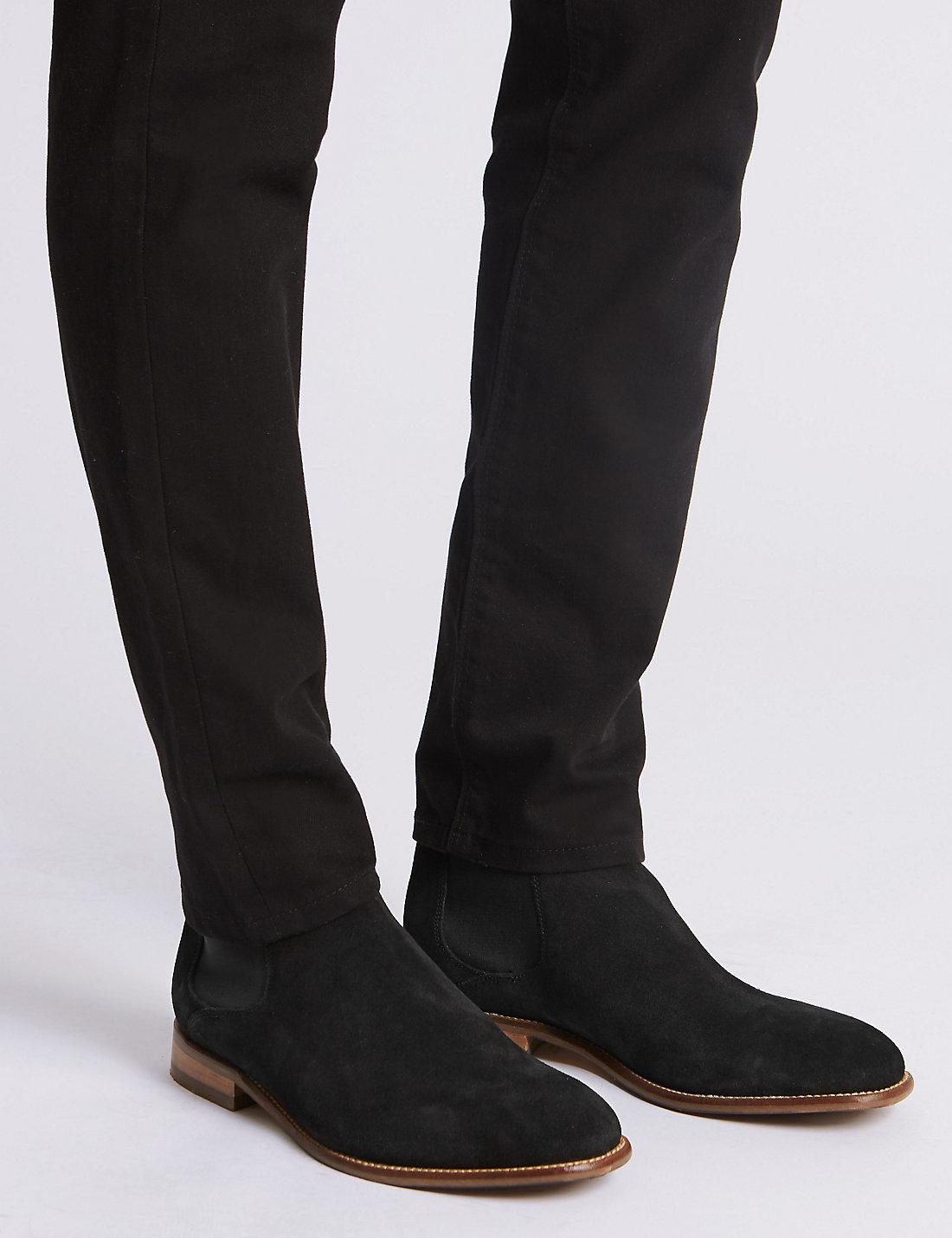 new arrive new style cute cheap Marks & Spencer Suede Chelsea Boots in Black for Men - Lyst