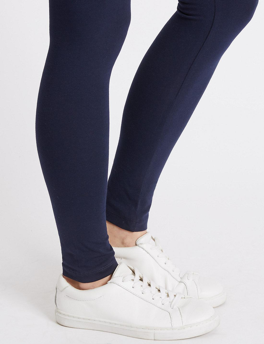 b07f7457a4fdb Lyst - Marks & Spencer Maternity Cotton Leggings With Stretch in Blue