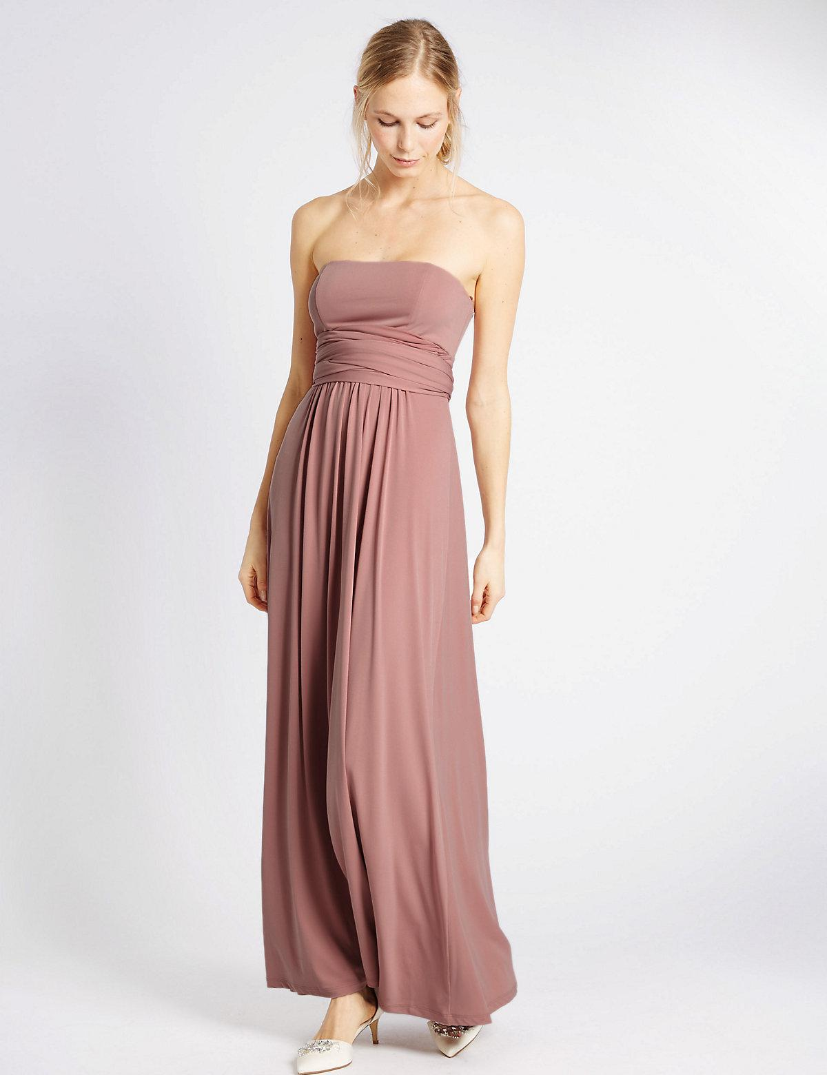 Lyst - Marks & Spencer Multiway Strap Maxi Dress in Pink - Save 29%