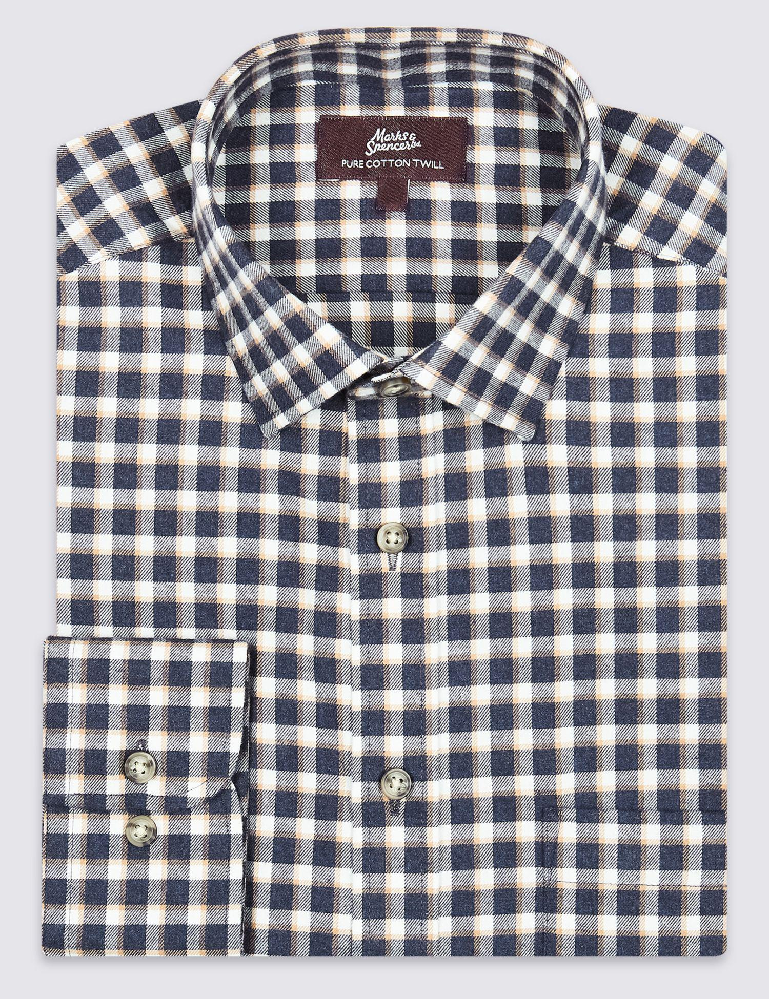 Mens Checked Shirts Marks And Spencer Bcd Tofu House