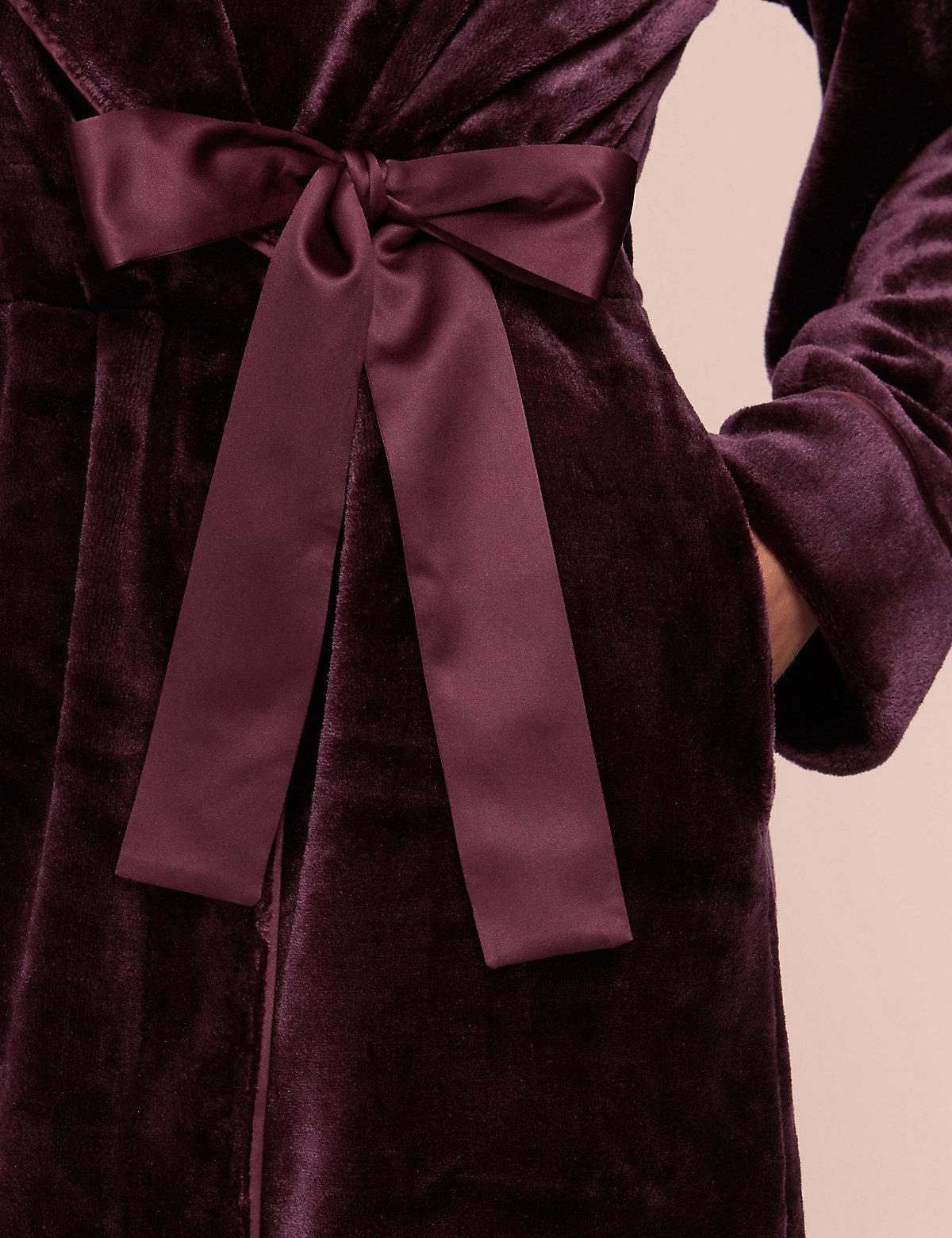 Modern Aubergine Dressing Gown Festooning - Ball Gown Wedding ...