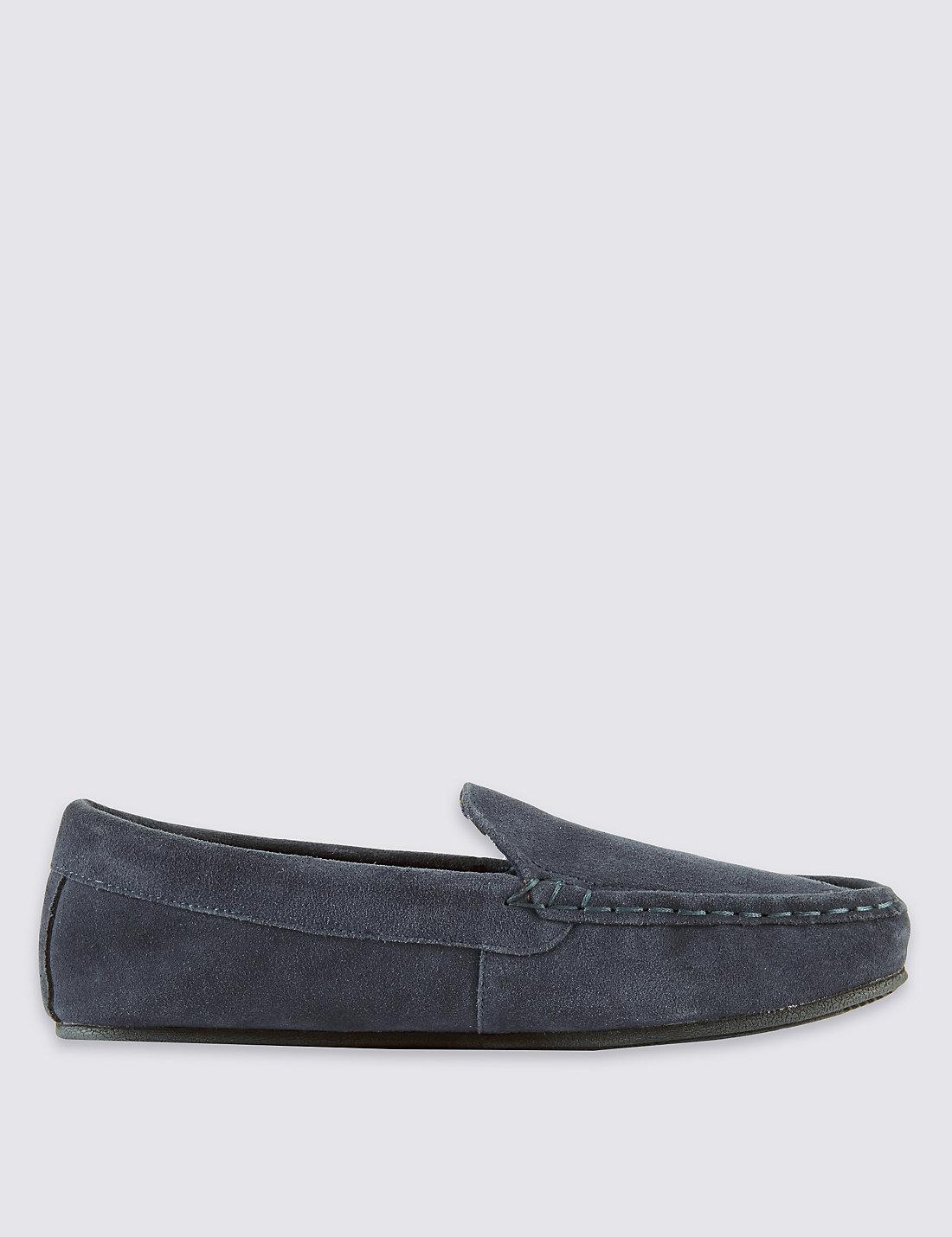 Marks Amp Spencer Suede Moccasin Slippers With Thinsulatetm