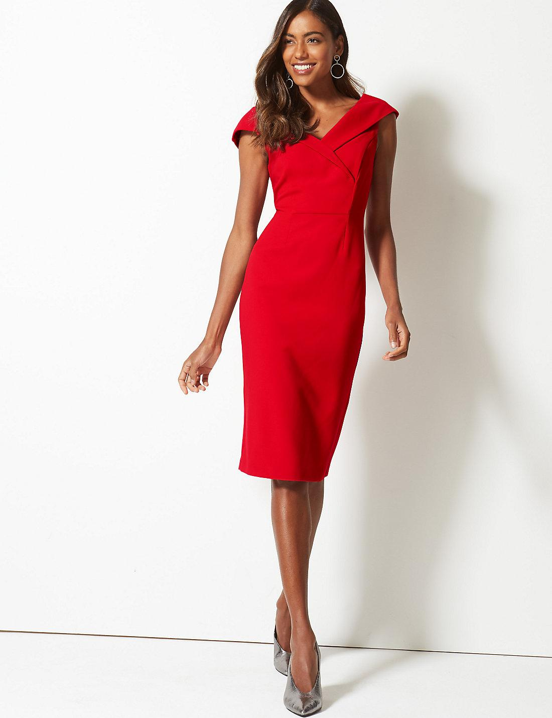 Marks and spencer double crepe bodycon dress houston