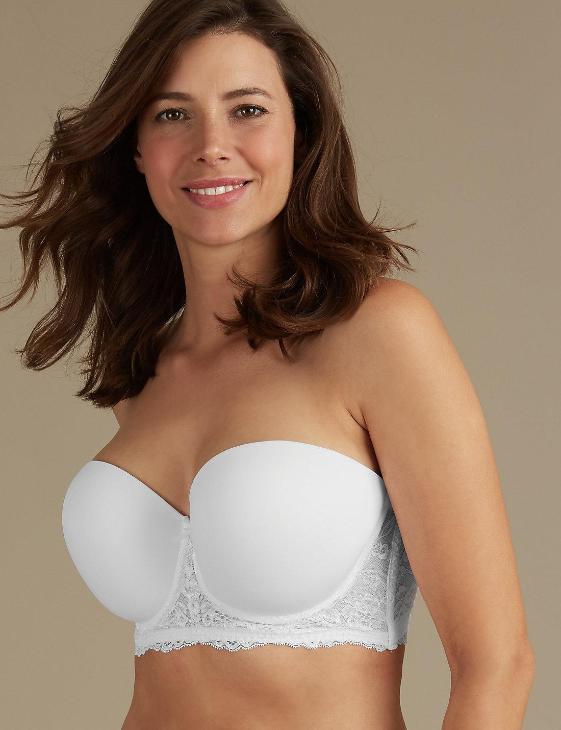 02235d538c Lyst - Marks   Spencer Lace Embroidered Padded Strapless Bra Dd-gg ...