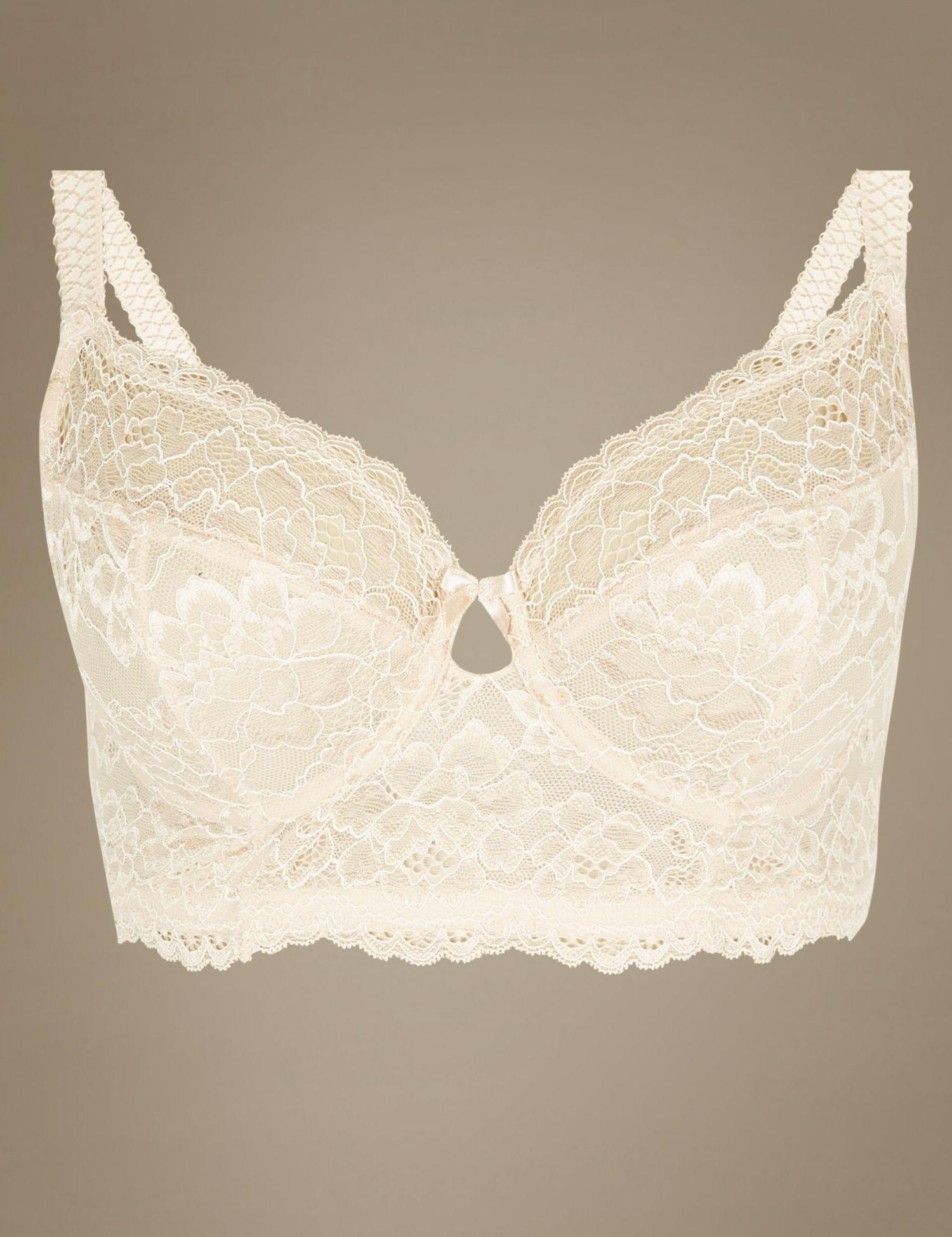 2db783eddf2c9 Marks   Spencer Louisa Lace Non-padded Full Cup Bra B-dd in Natural ...