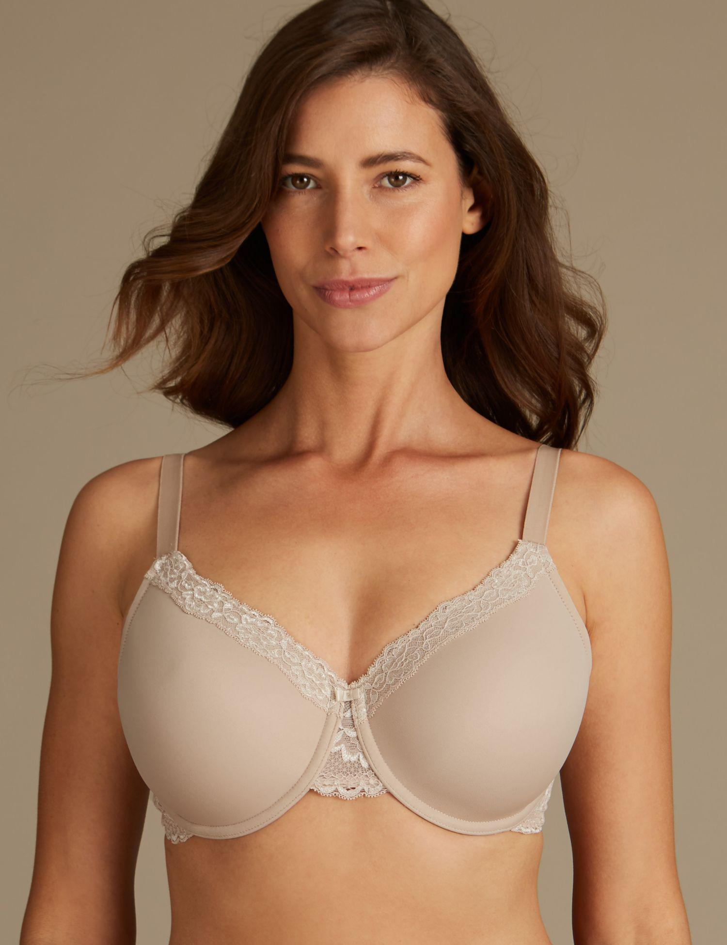 0ced15ee4b8dd Marks   Spencer 2 Pack Louisa Lace Padded Full Cup Bras Dd-g in ...