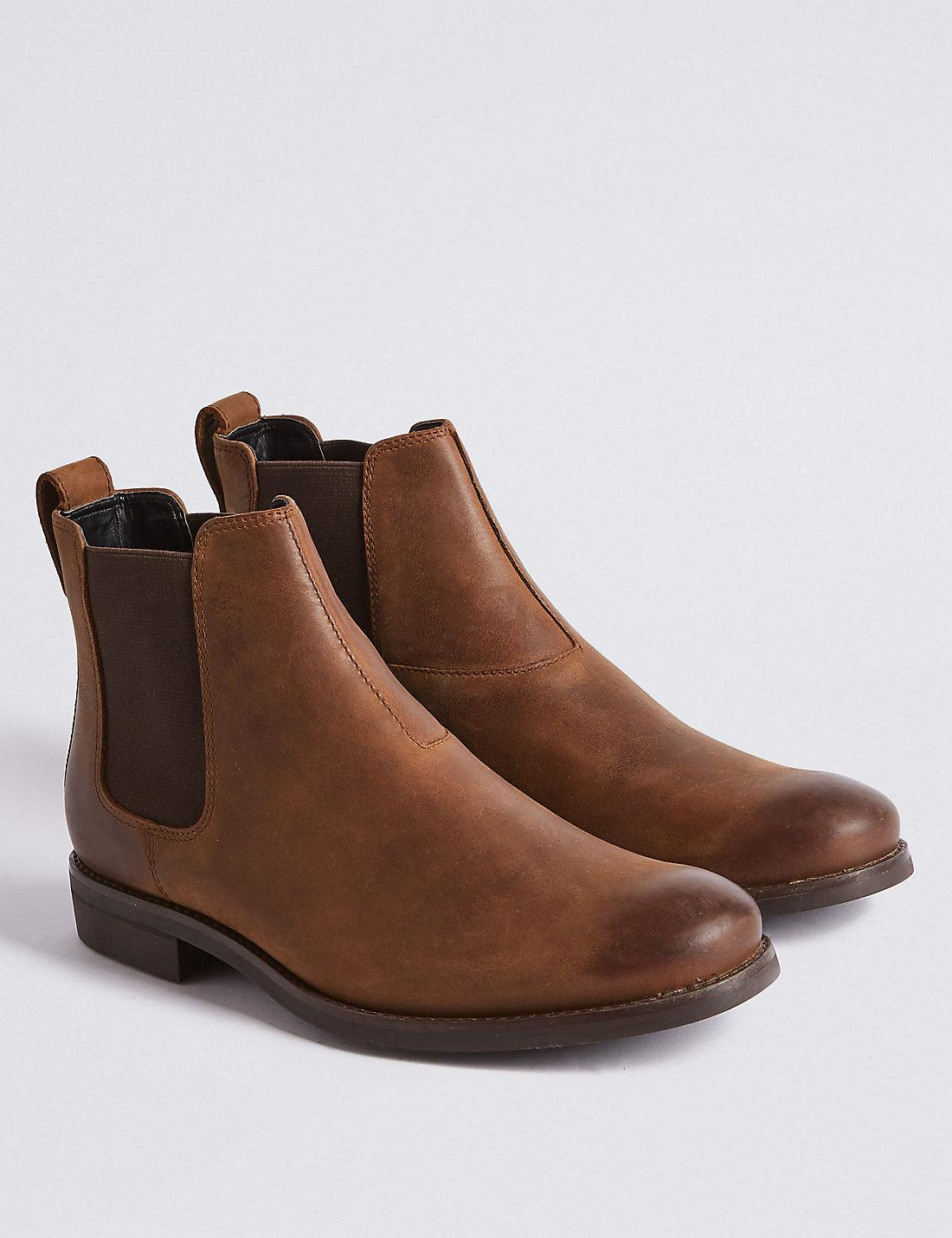 sale usa online check out buying now Marks & Spencer Leather Chelsea Boots in Brown for Men - Lyst