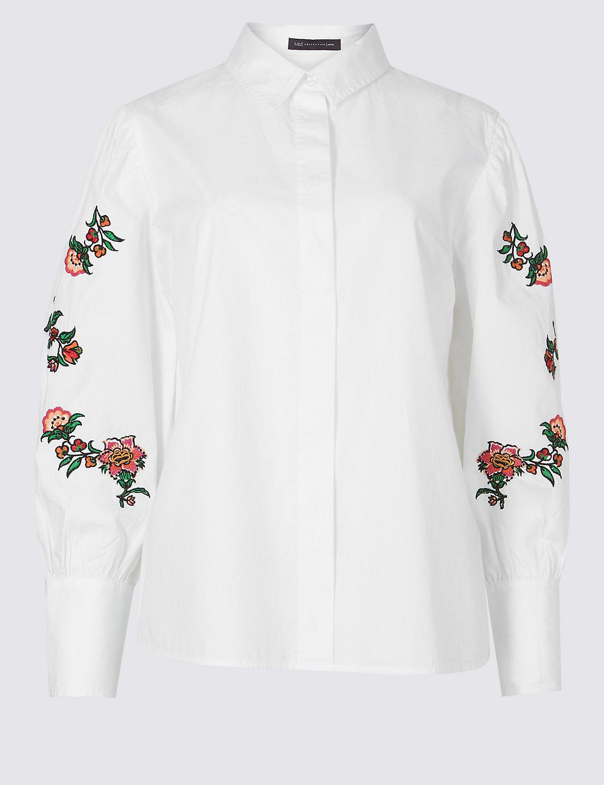 Lyst marks spencer petite pure cotton floral
