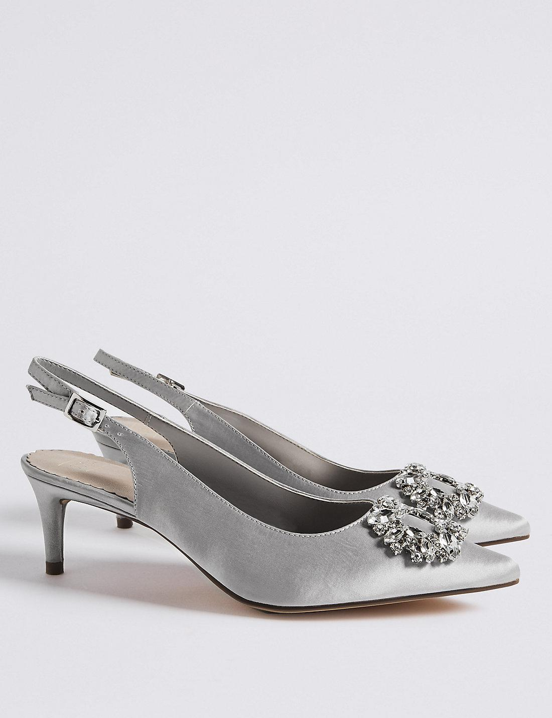 d1f245e2182 Lyst - Marks   Spencer Kitten Heel Jewel Pointed Toe Court Shoes in ...