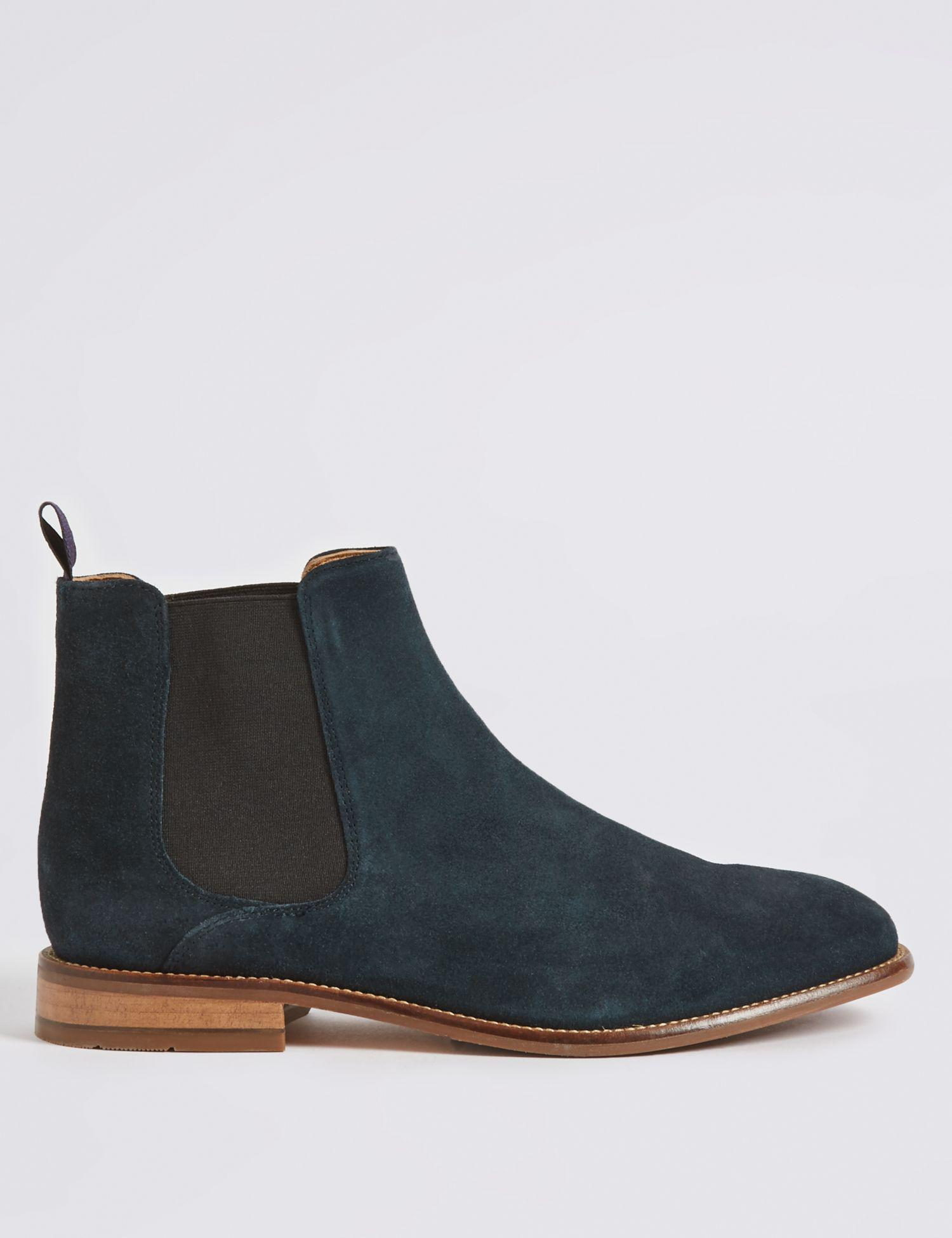90ba4a701e812 Marks & Spencer Suede Chelsea Boots in Blue for Men - Lyst