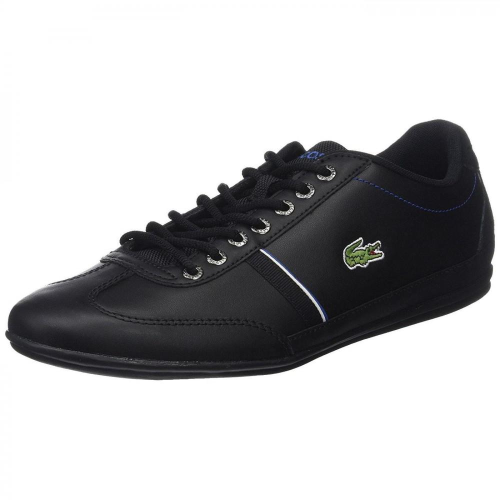 52a1a27eafe45e Lacoste - Black Misano Sport 118 1 Leather Trainers Shoes for Men - Lyst.  View fullscreen