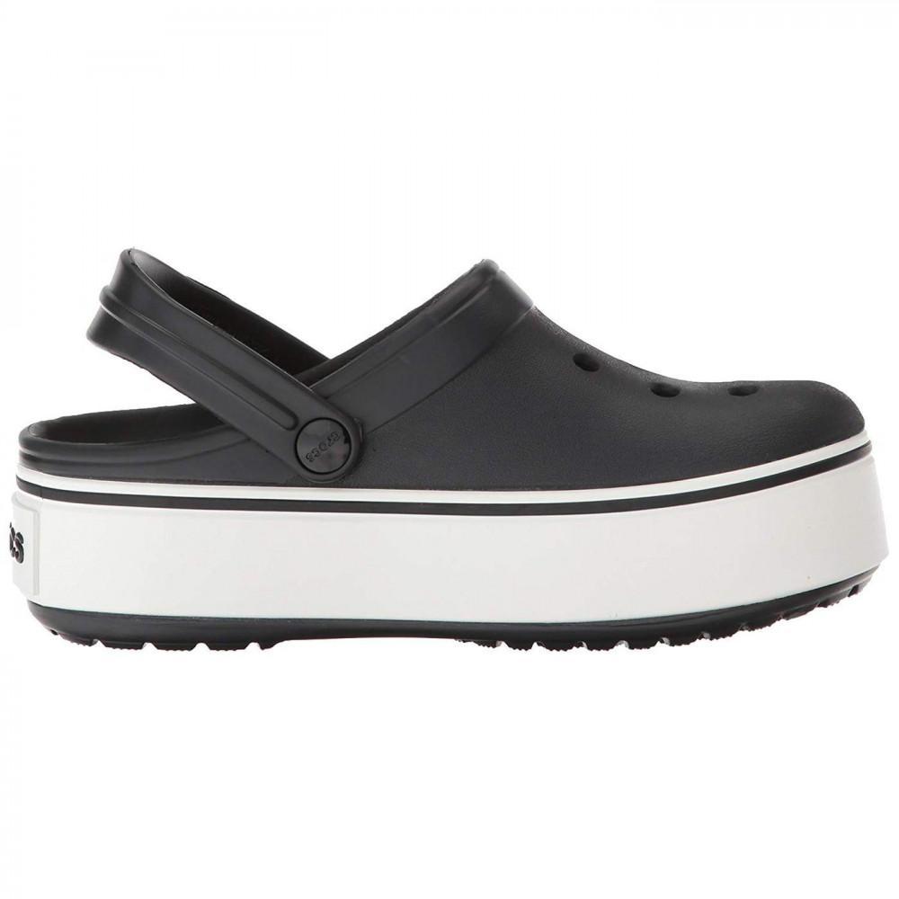 648b88fa3b15 Crocs™. Women s Black Crocband Platform Clogs Chunky Slip On Sandals Shoes