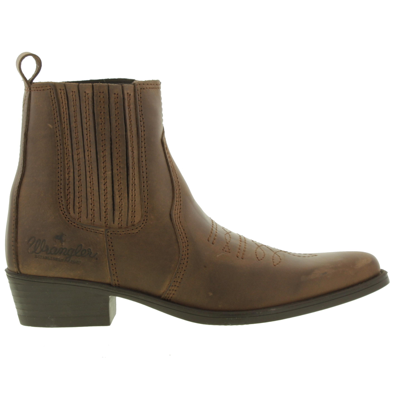 d4a46c8e44a Wrangler Brown Tex Mid Cowboy Boots for men