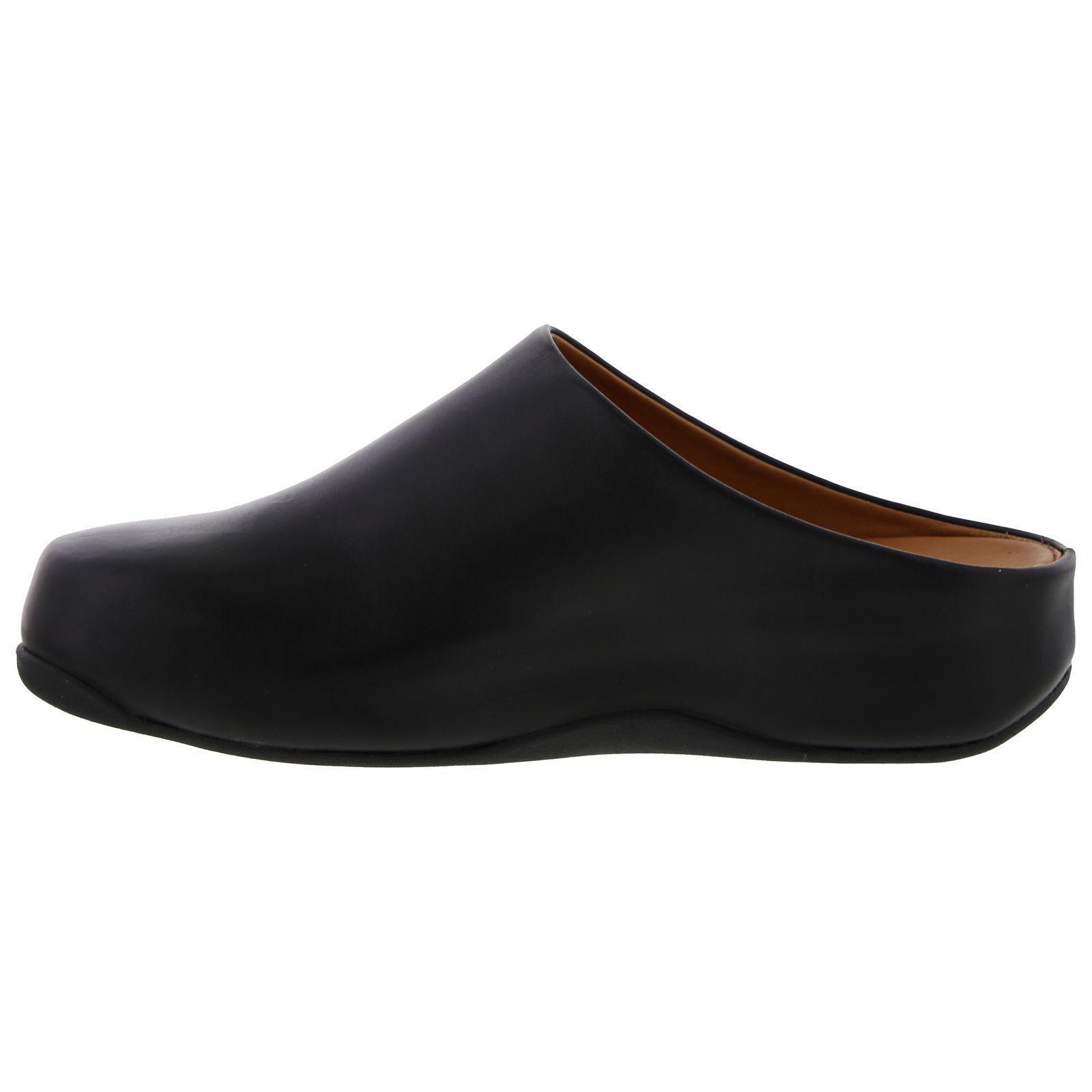 f0086d66cf6 Fitflop Shuv Leather Clog Slip On Shoes in Black for Men - Lyst
