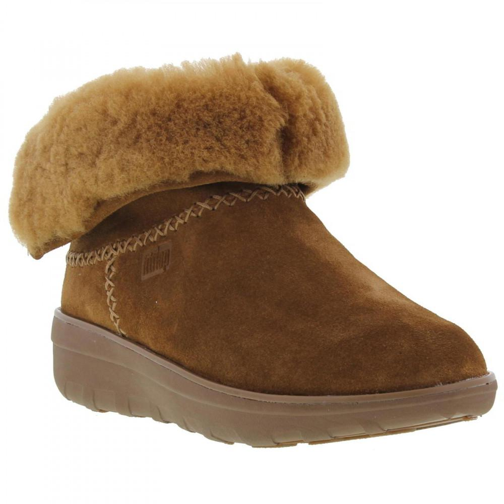 eb884de66b5a84 Fitflop - Brown Mukluk Shorty Fur Lined Ankle Boots - Lyst. View fullscreen