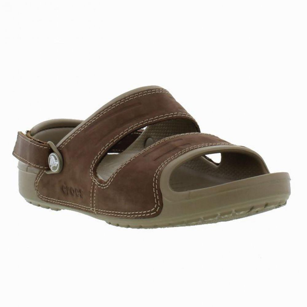 b057321a8a841 Crocs™ - Brown Yukon Two Strap Slip On Sandal Shoes for Men - Lyst. View  fullscreen