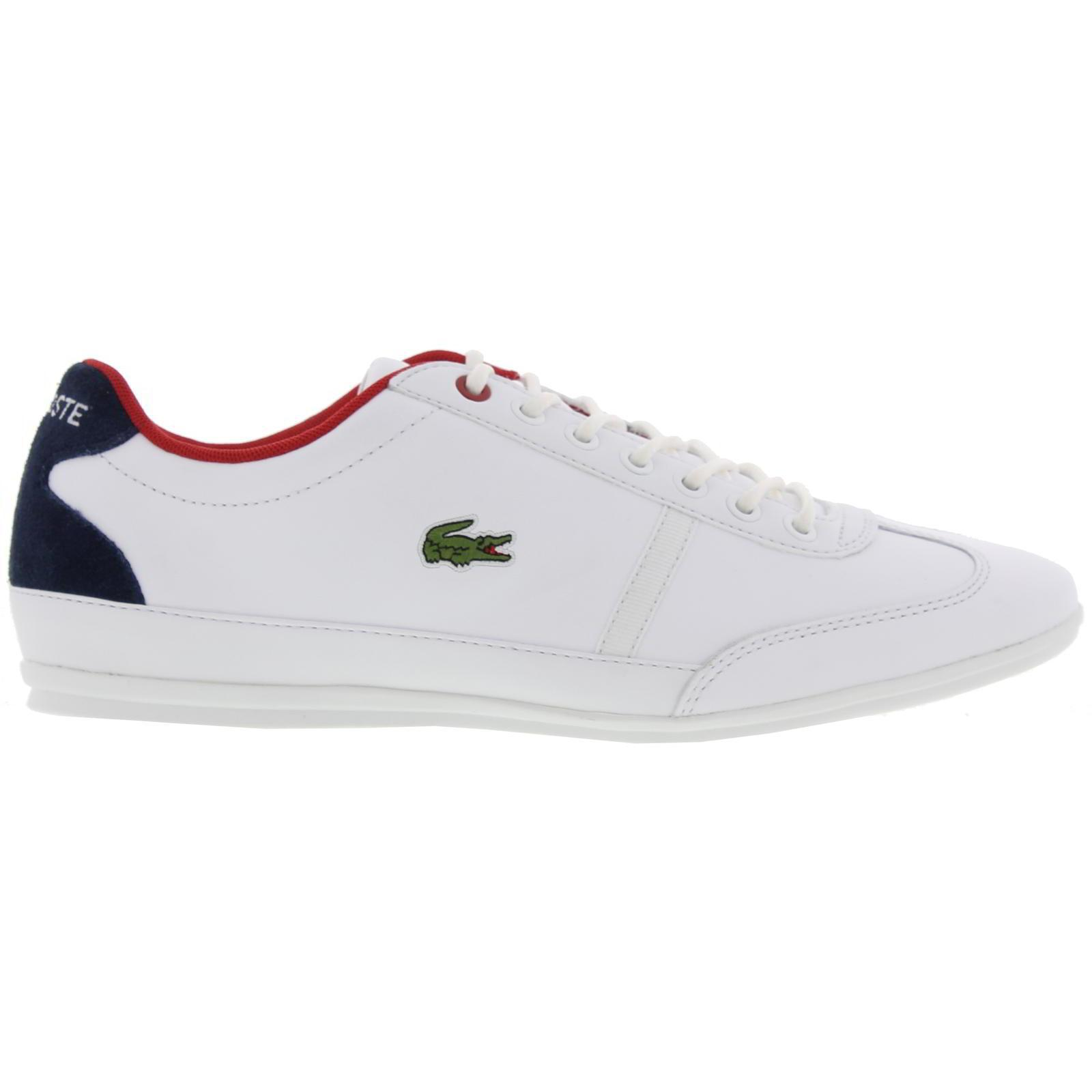 882caf32318180 Lacoste Misano Sport 317 1 Leather Trainers in White for Men - Lyst