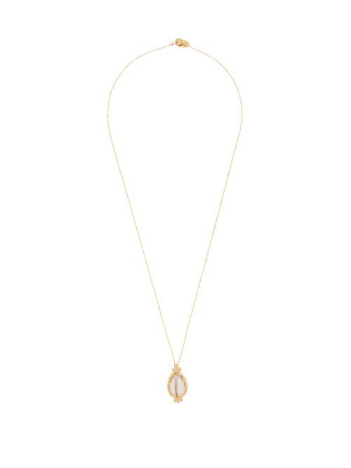 Elise Tsikis Valos Shell Necklace in White