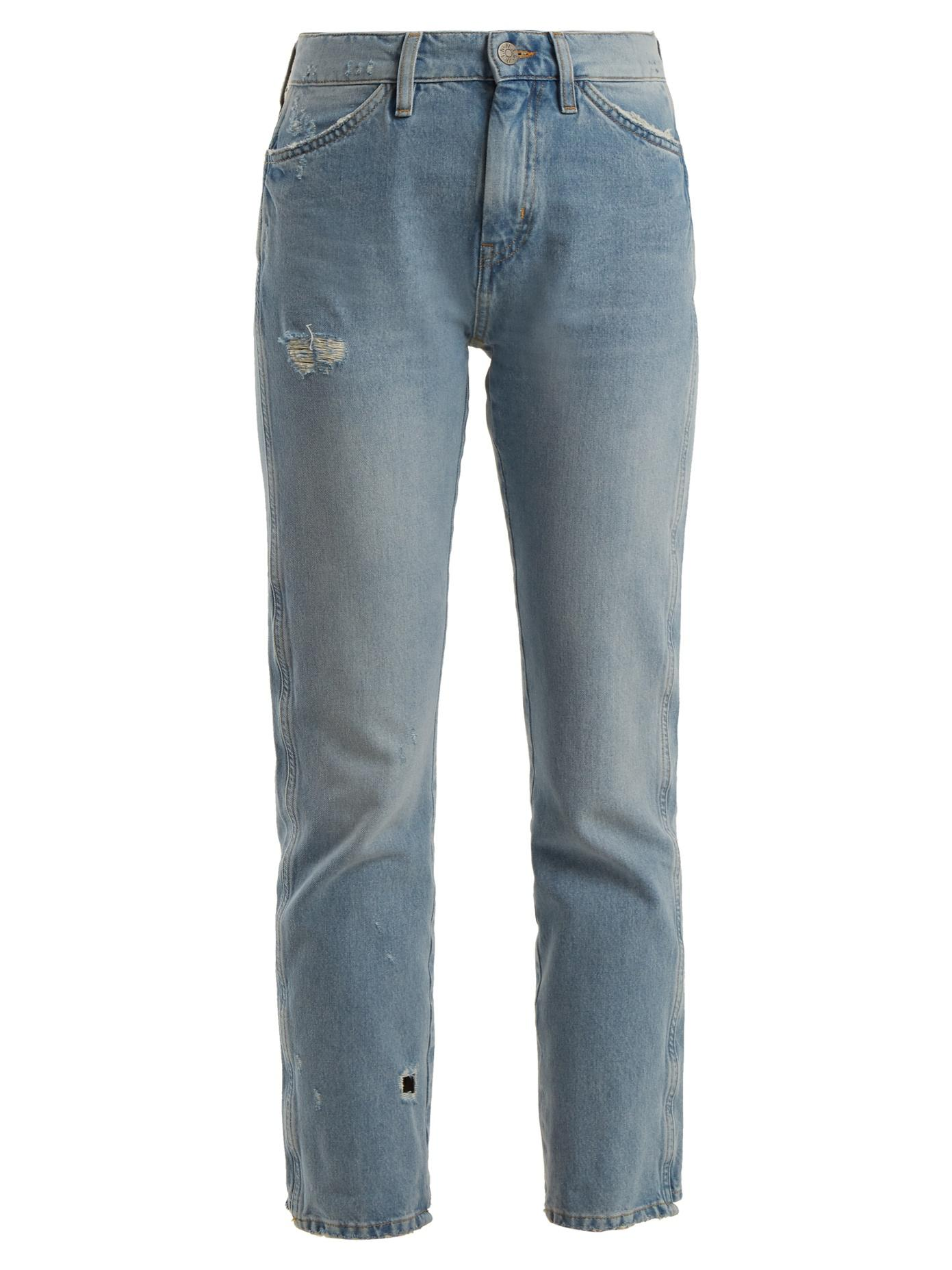 Cult Distressed Mid-rise Straight-leg Jeans - Mid denim Mih Jeans Discounts Free Shipping Excellent 8davw