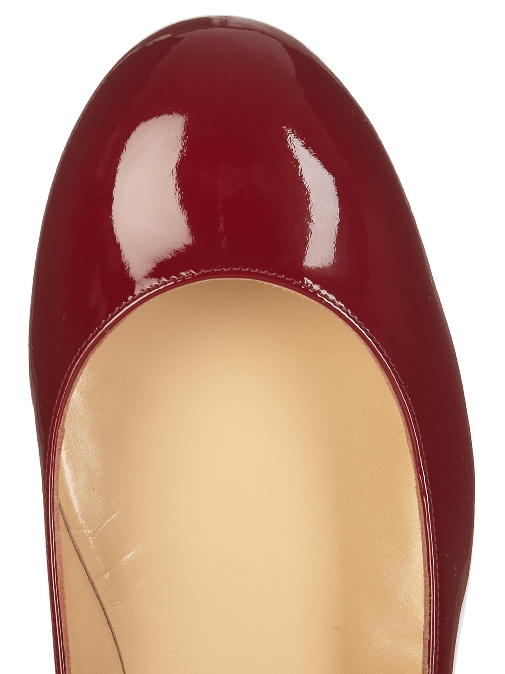 competitive price 23e01 13b46 Christian Louboutin Red Dolly Birdy 30mm Patent-leather Pumps