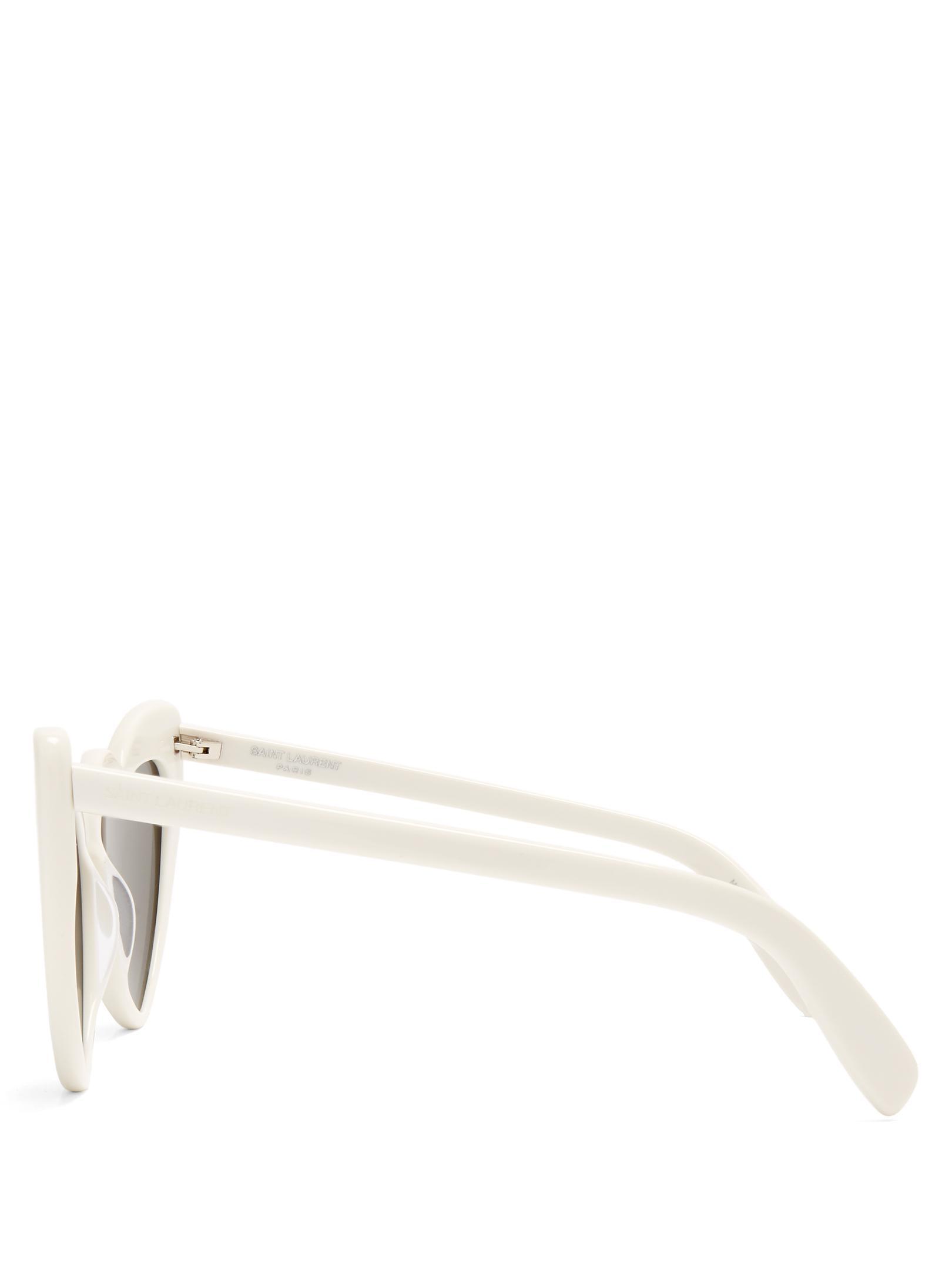 d03829259c7e3 Saint Laurent Loulou White Heart Sunglasses