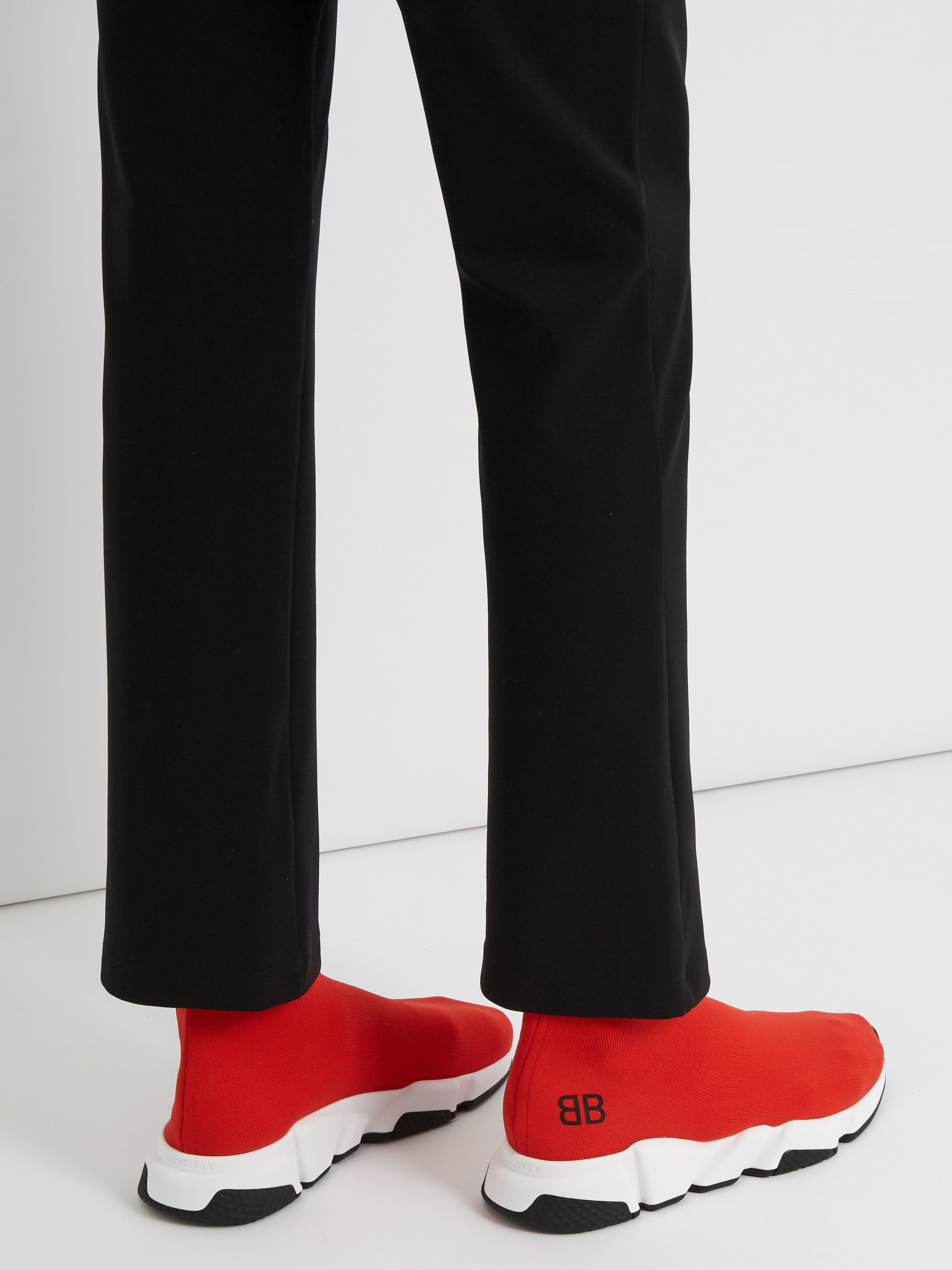 e8b1ea21a1c2 Balenciaga Speed Sock Trainers in Red for Men - Save 21% - Lyst