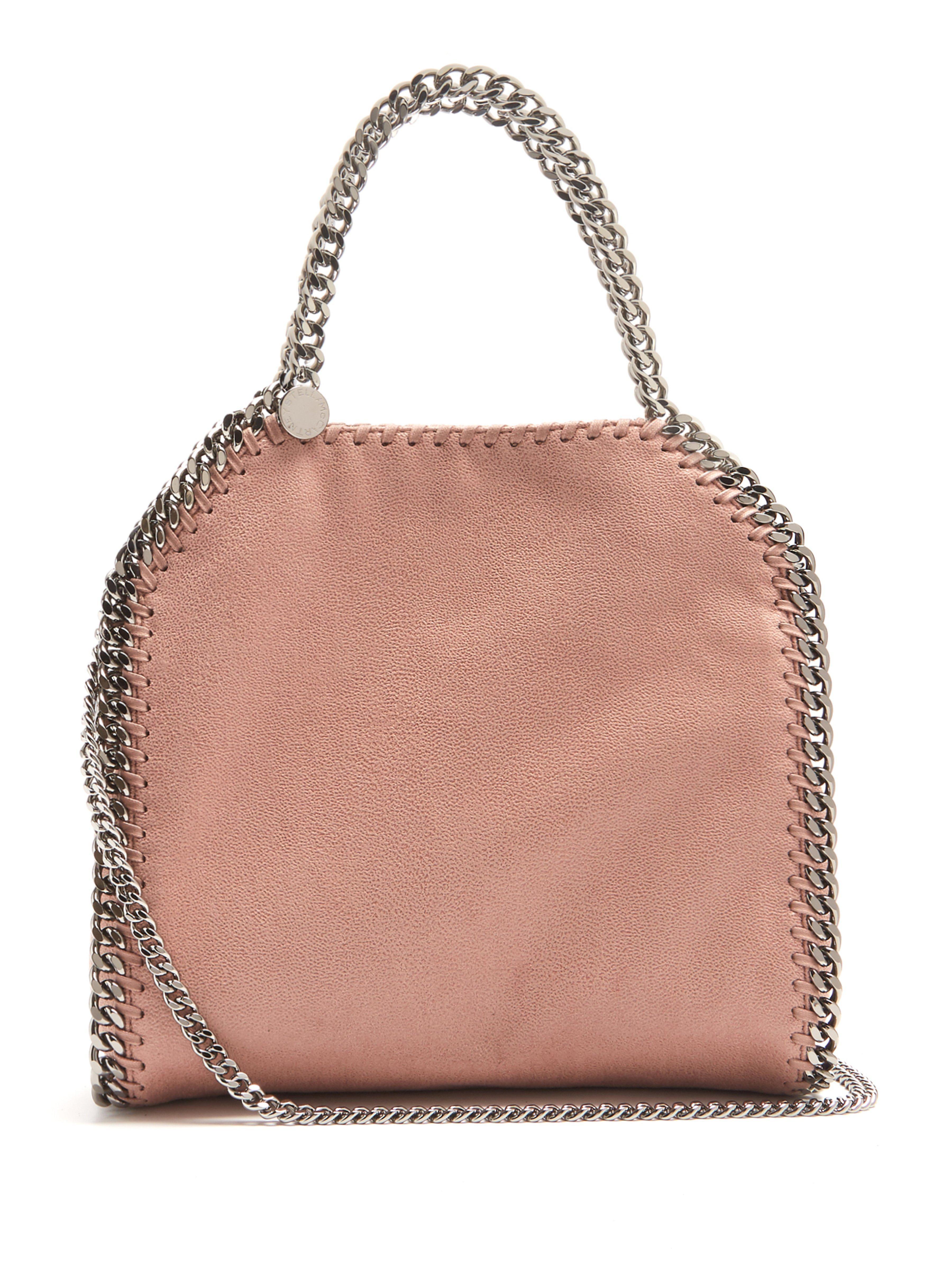 Stella McCartney. Women s Pink Falabella Mini Faux Suede Cross Body Bag 1bf3e05c86bf3