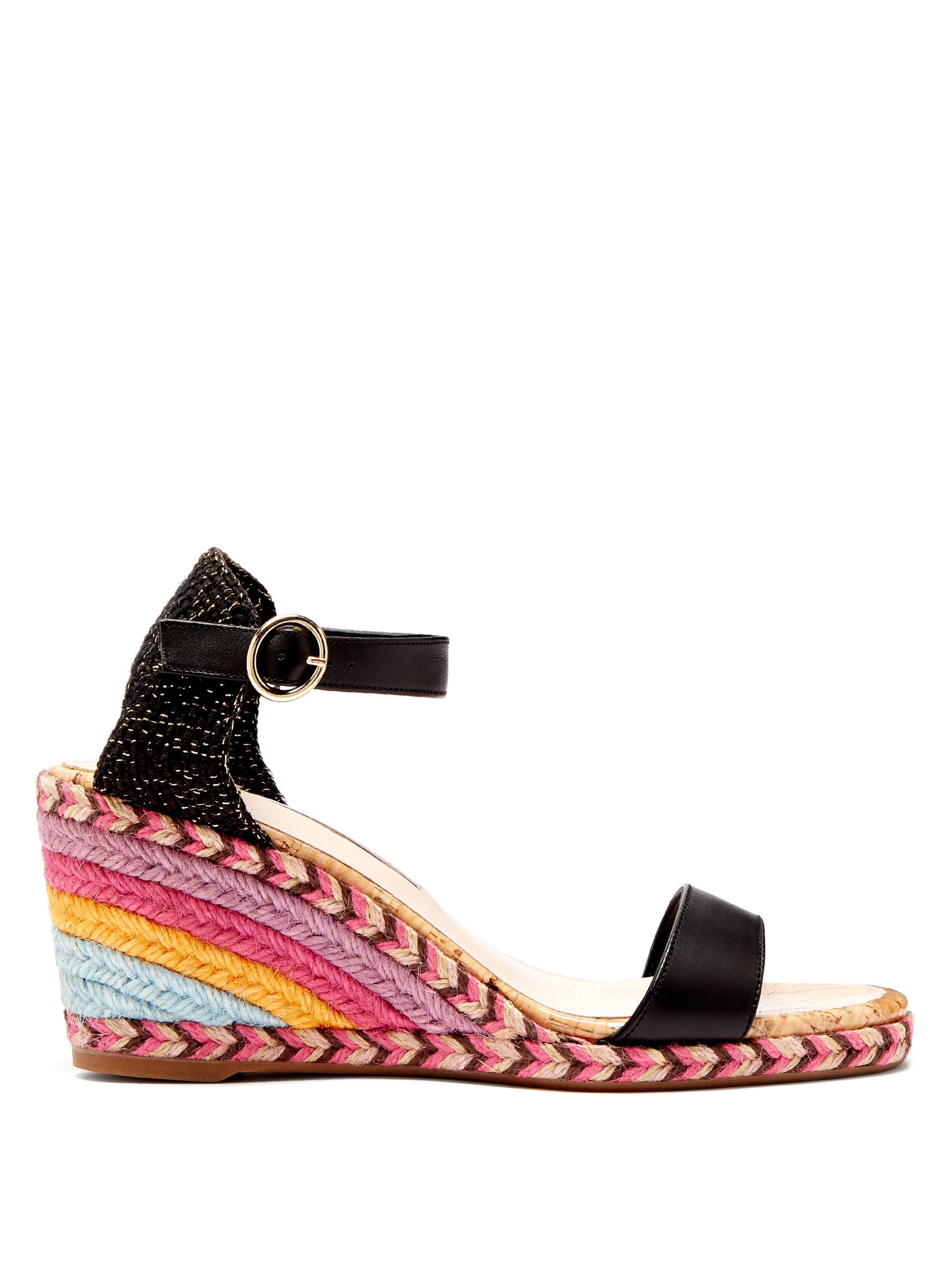 3db1dc02234 Sophia Webster Lucita Wedge Sandals in Black - Save 16% - Lyst