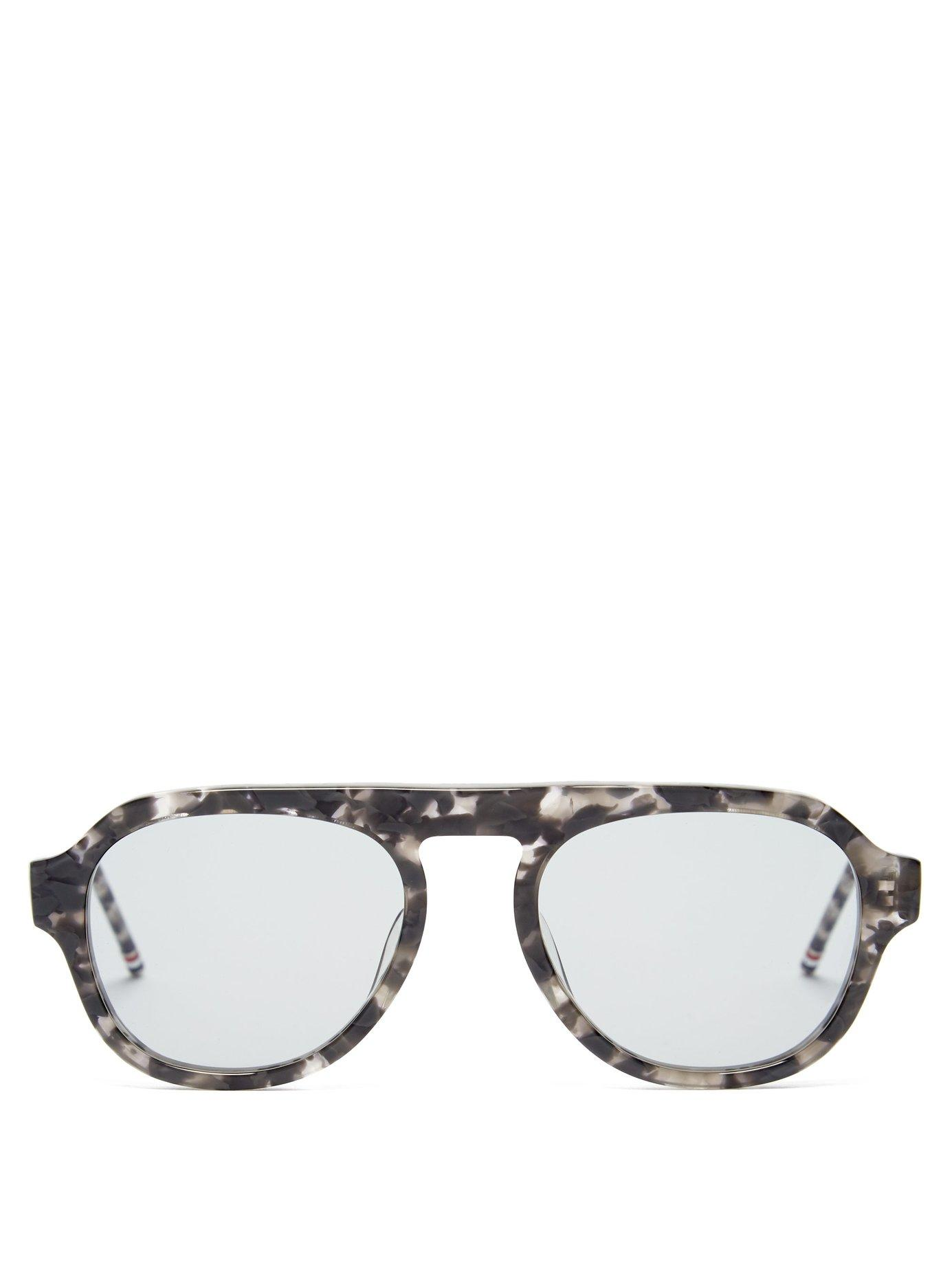 4f44185d4c7 Lyst - Thom Browne Tortoiseshell Acetate Aviator Sunglasses in Gray ...