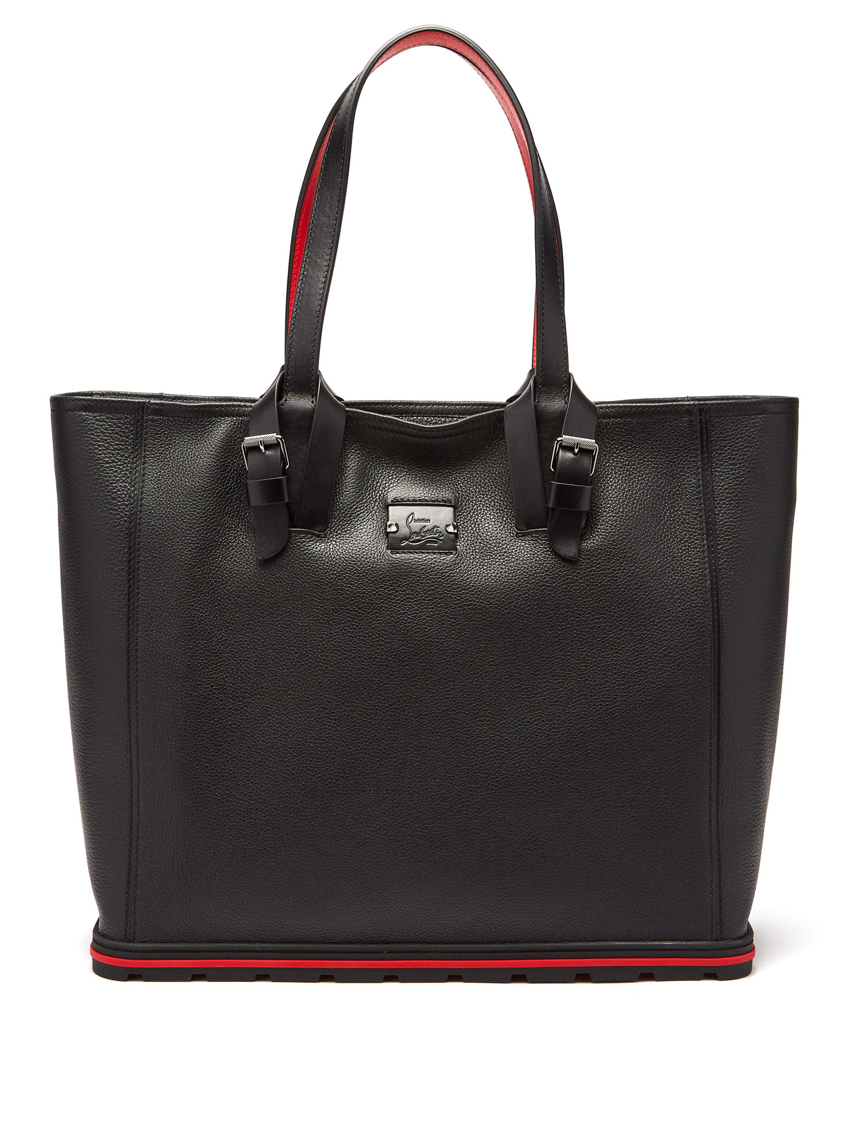 2c244a44d5cd Christian Louboutin - Black Kabiker Leather Tote Bag for Men - Lyst. View  fullscreen