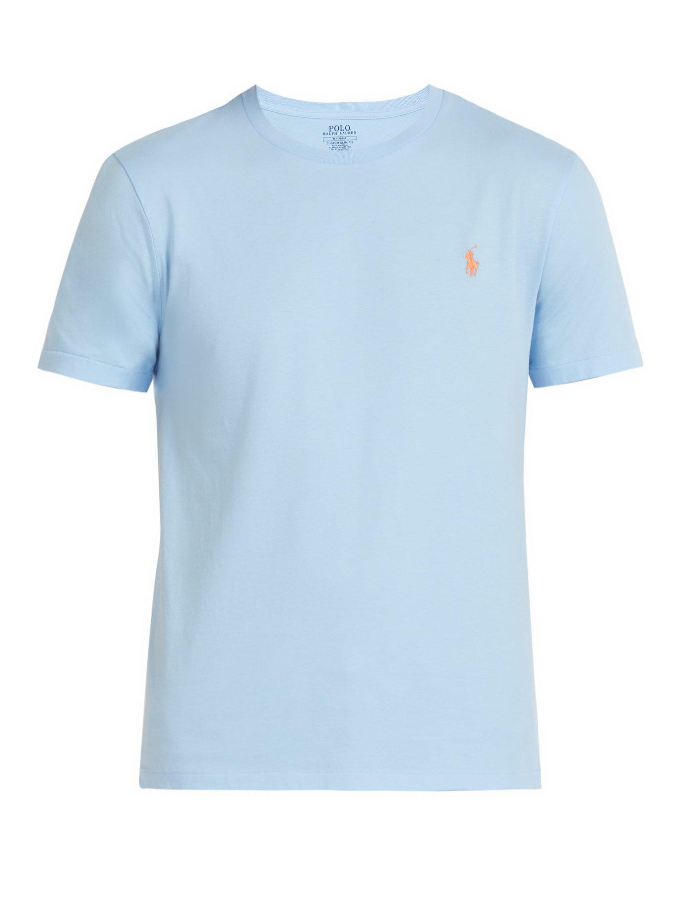 8ab43359a Polo Ralph Lauren - Blue Logo Embroidered Cotton T Shirt for Men - Lyst.  View fullscreen