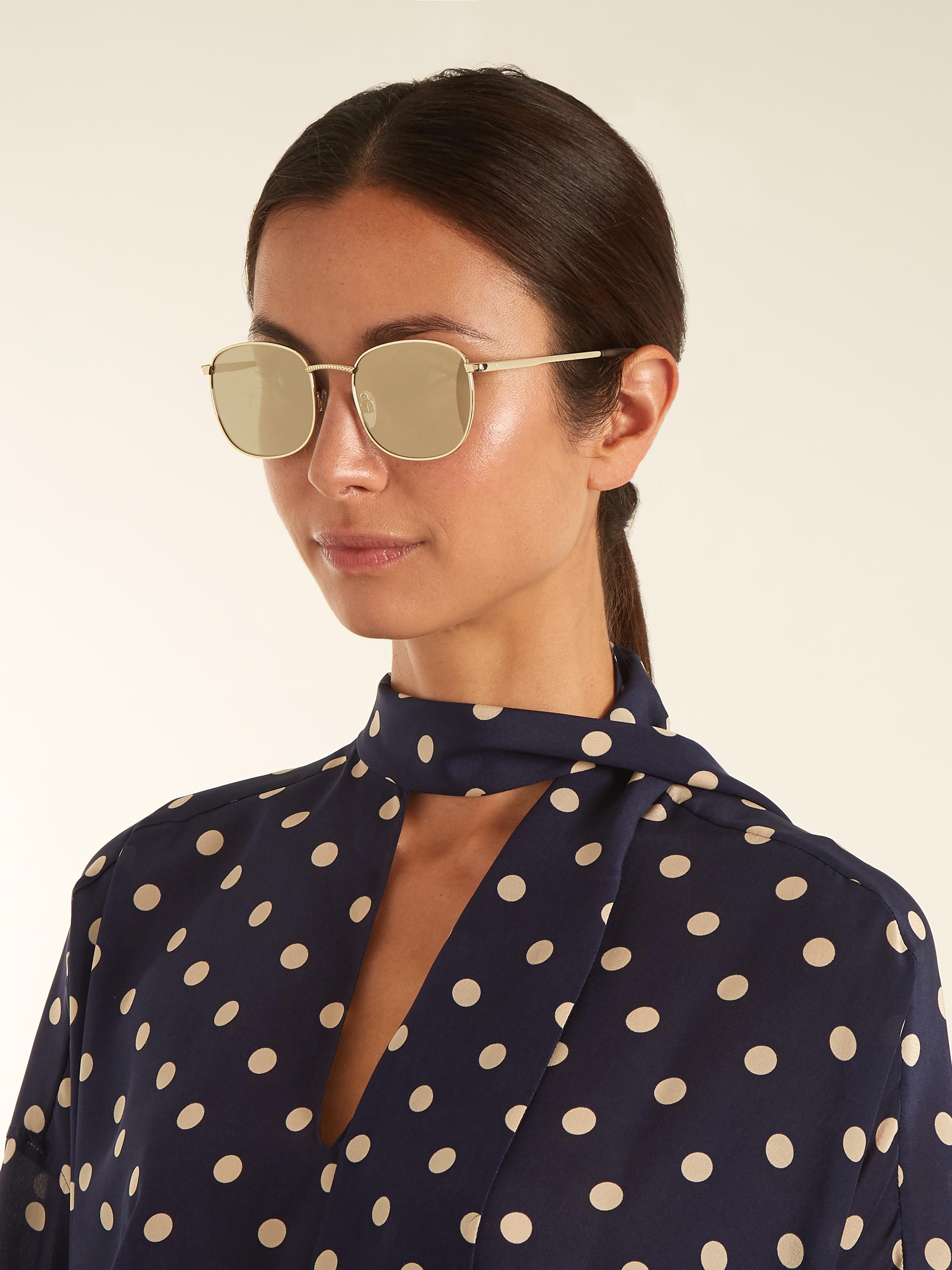0e36eea7995 Lyst - Le Specs Neptune Round-frame Sunglasses in Metallic